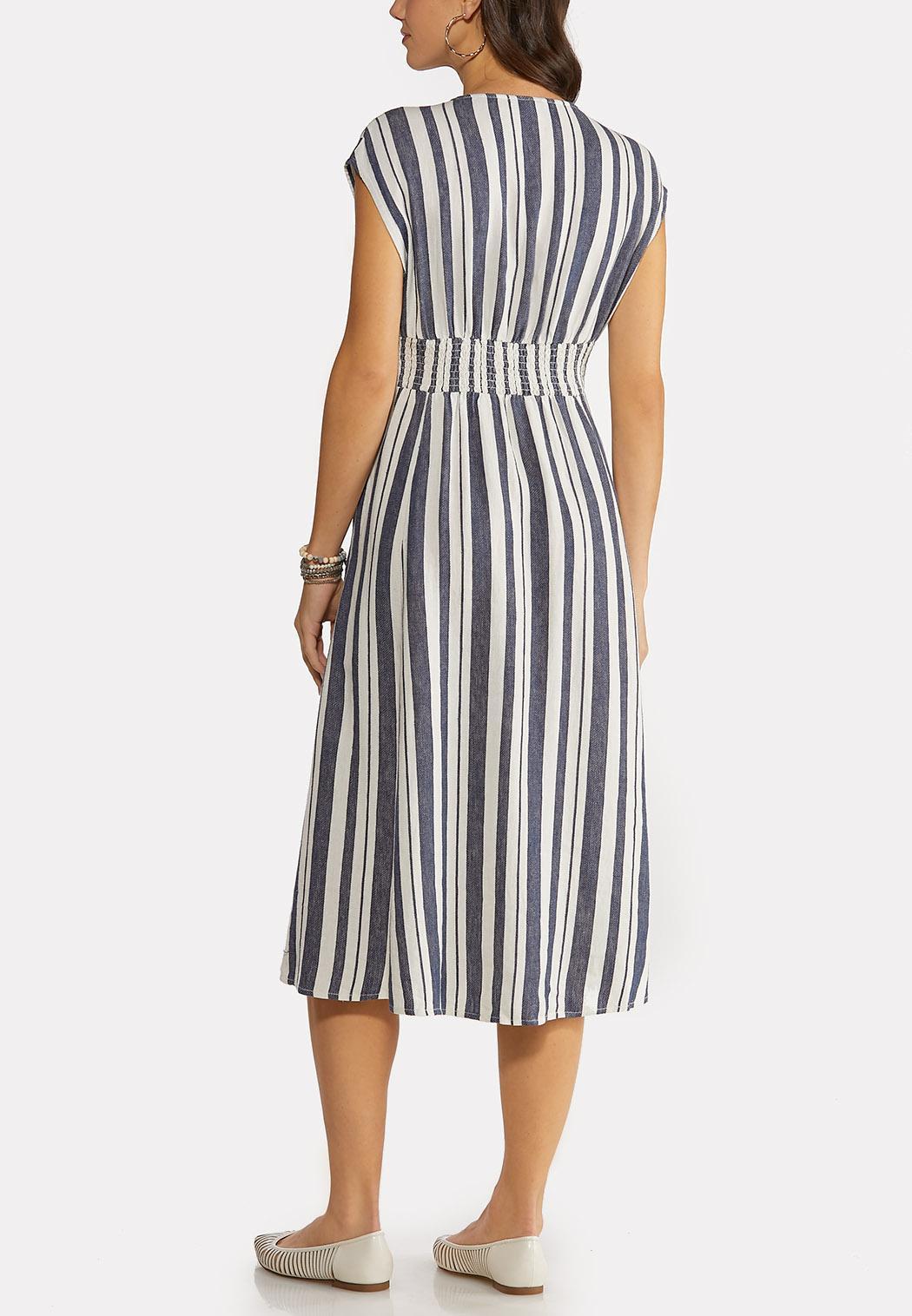 Stripe Linen Midi Dress (Item #44147466)