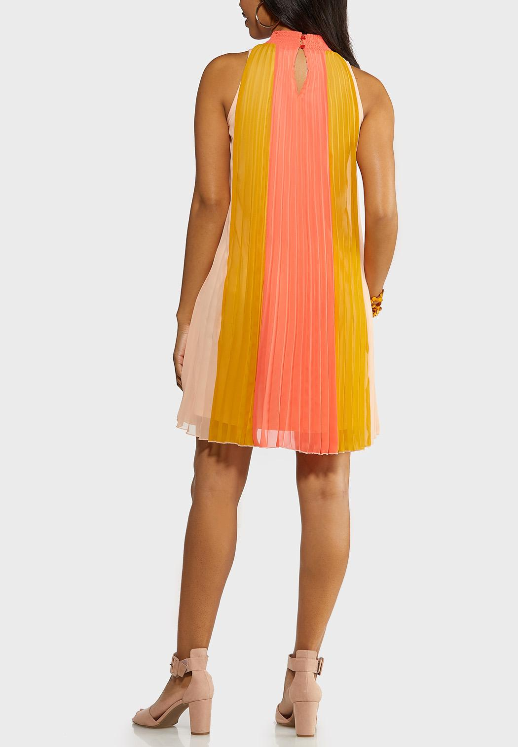 Caribbean Coral Pleated Dress (Item #44147759)