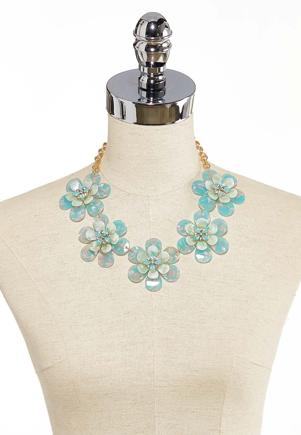 Lucite Flower Necklace (Item #44148071)