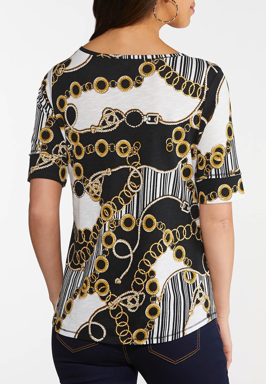 Plus Size Status Print Knit Top (Item #44148188)