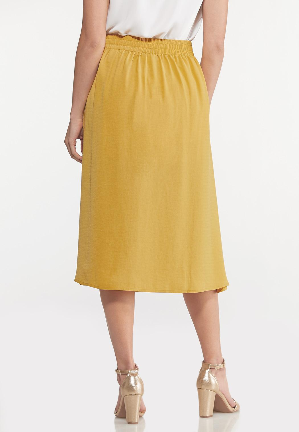 Gold Tie Front Skirt (Item #44148539)