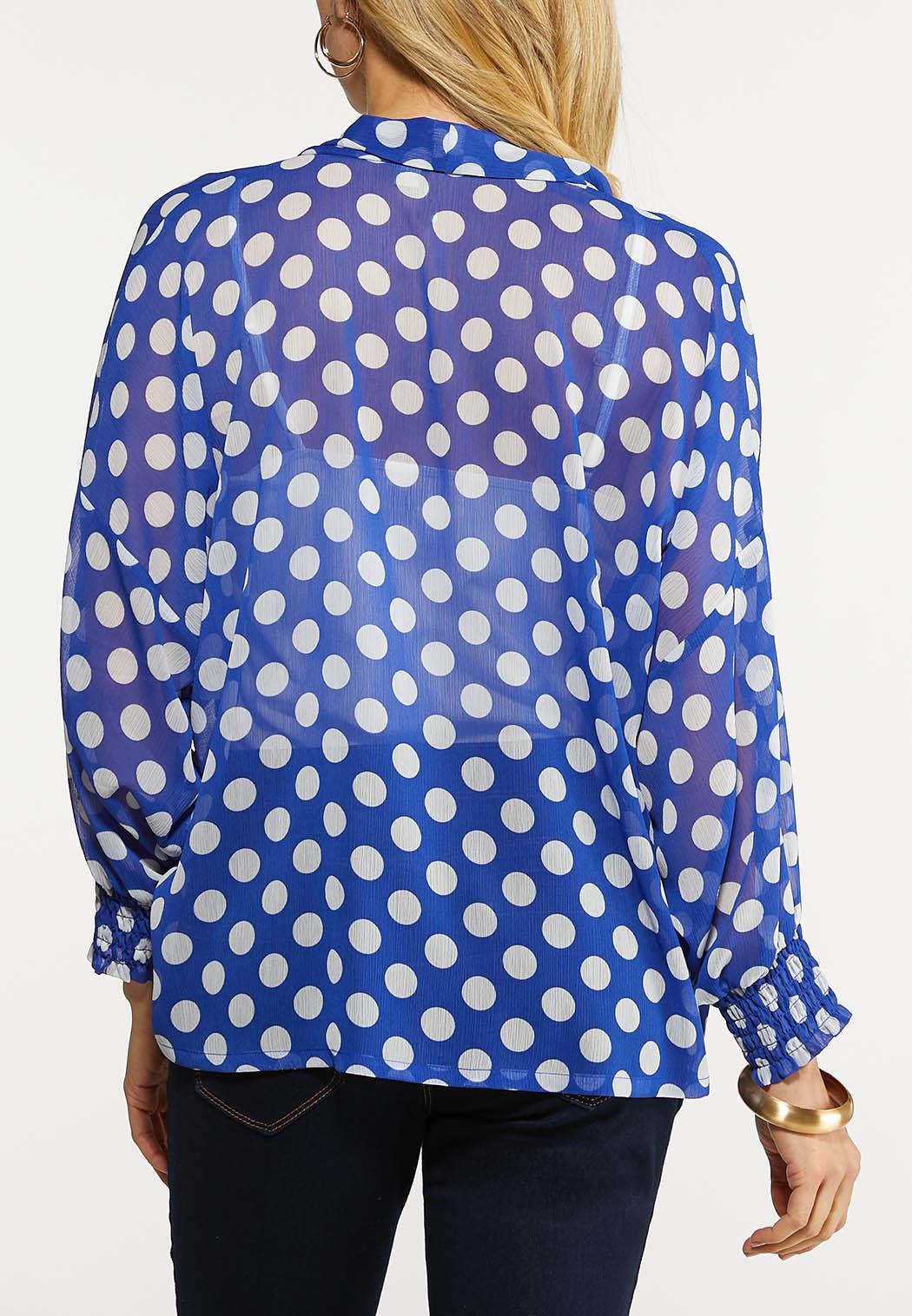 Plus Size Polka Dot Kimono Top (Item #44148929)