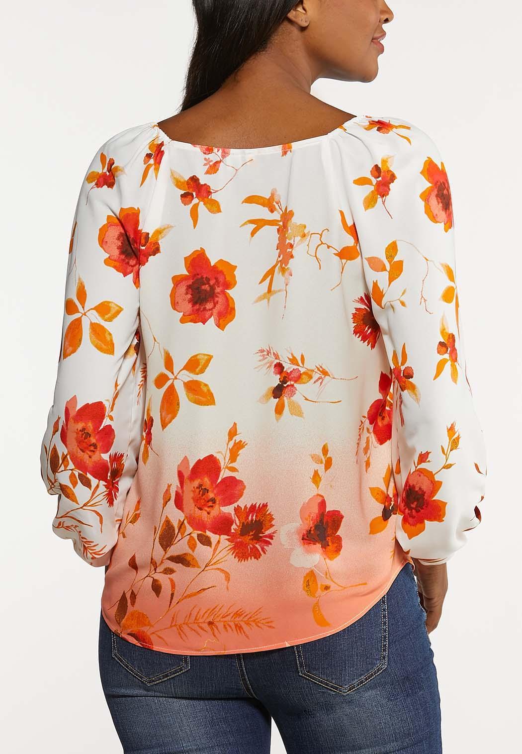 Plus Size Orange Blossom Top (Item #44148974)