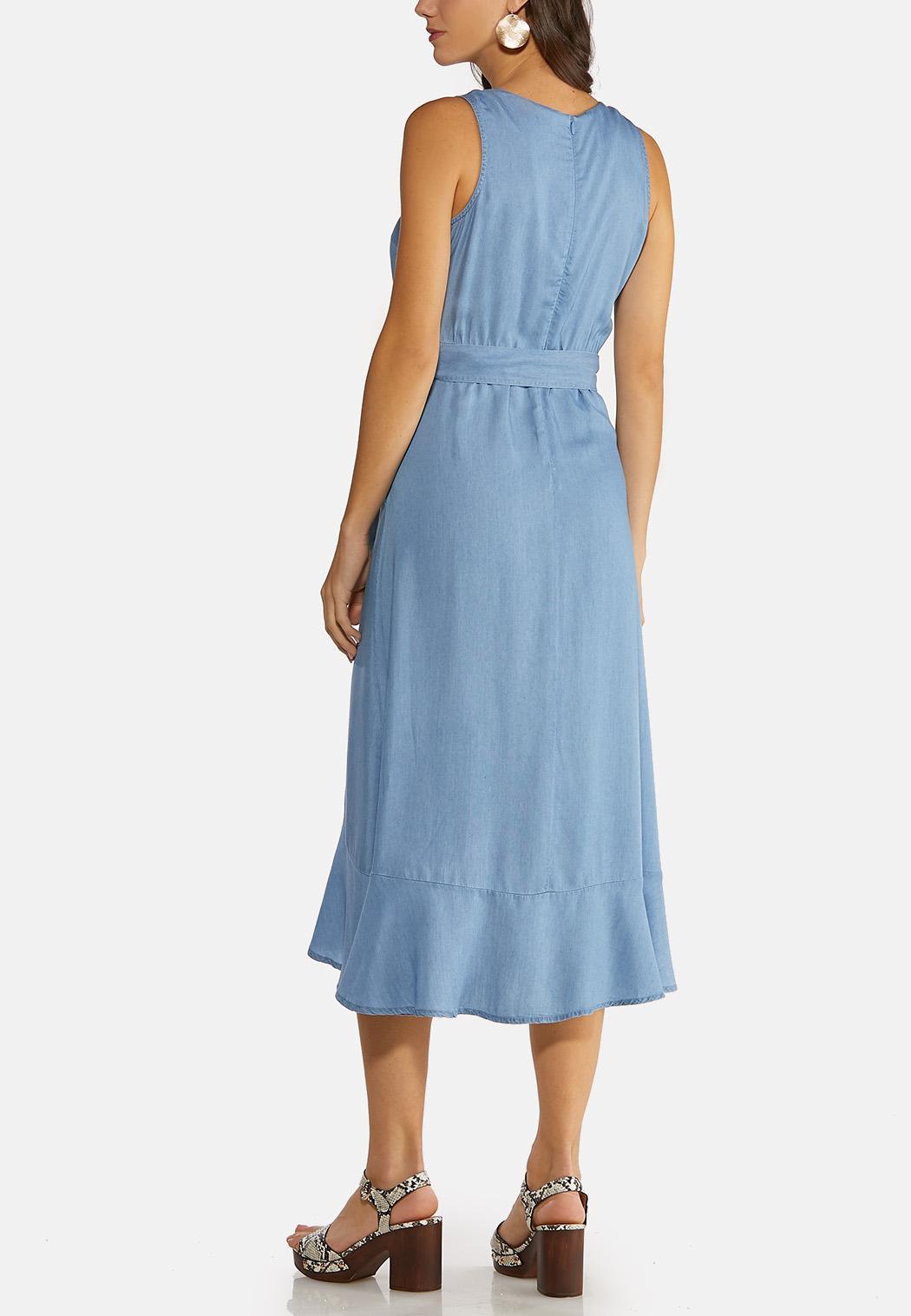 Ruffled Chambray Dress (Item #44149378)