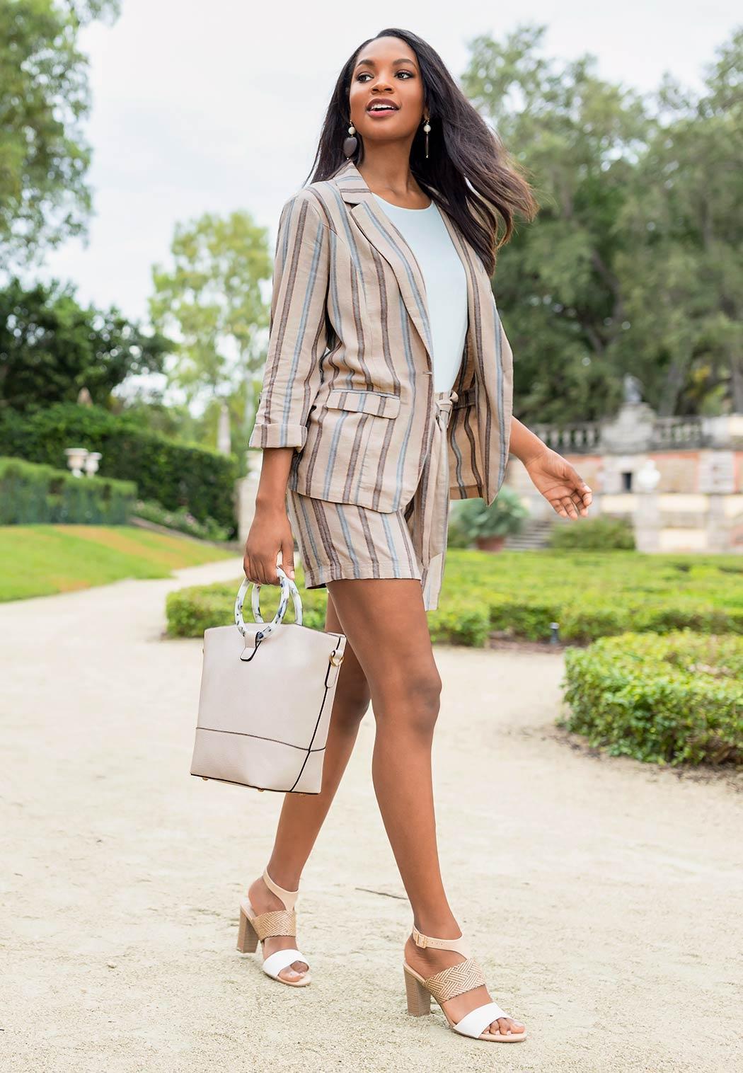 Stripe Linen Shorts (Item #44149664)