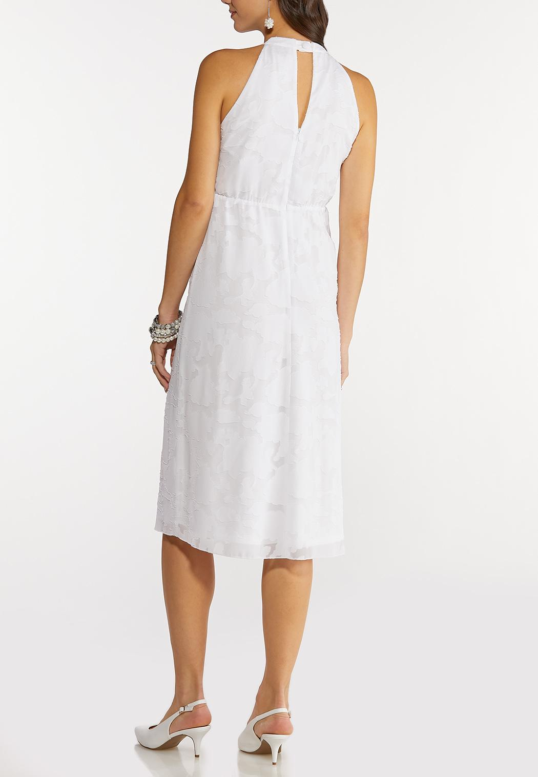 White Jacquard Midi Dress (Item #44149924)