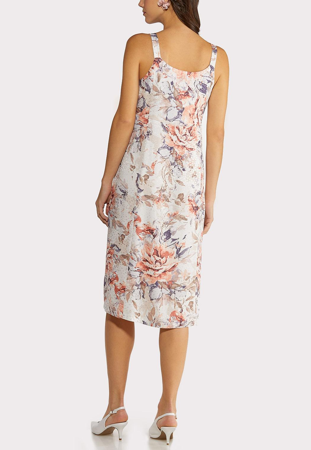 Plus Size Blush Floral Slip Dress (Item #44150739)
