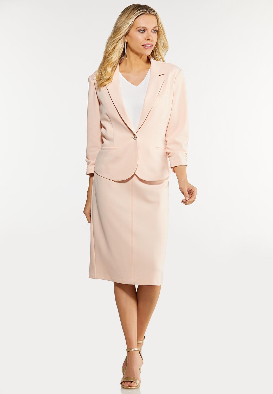Plus Size Blush Blazer (Item #44151264)