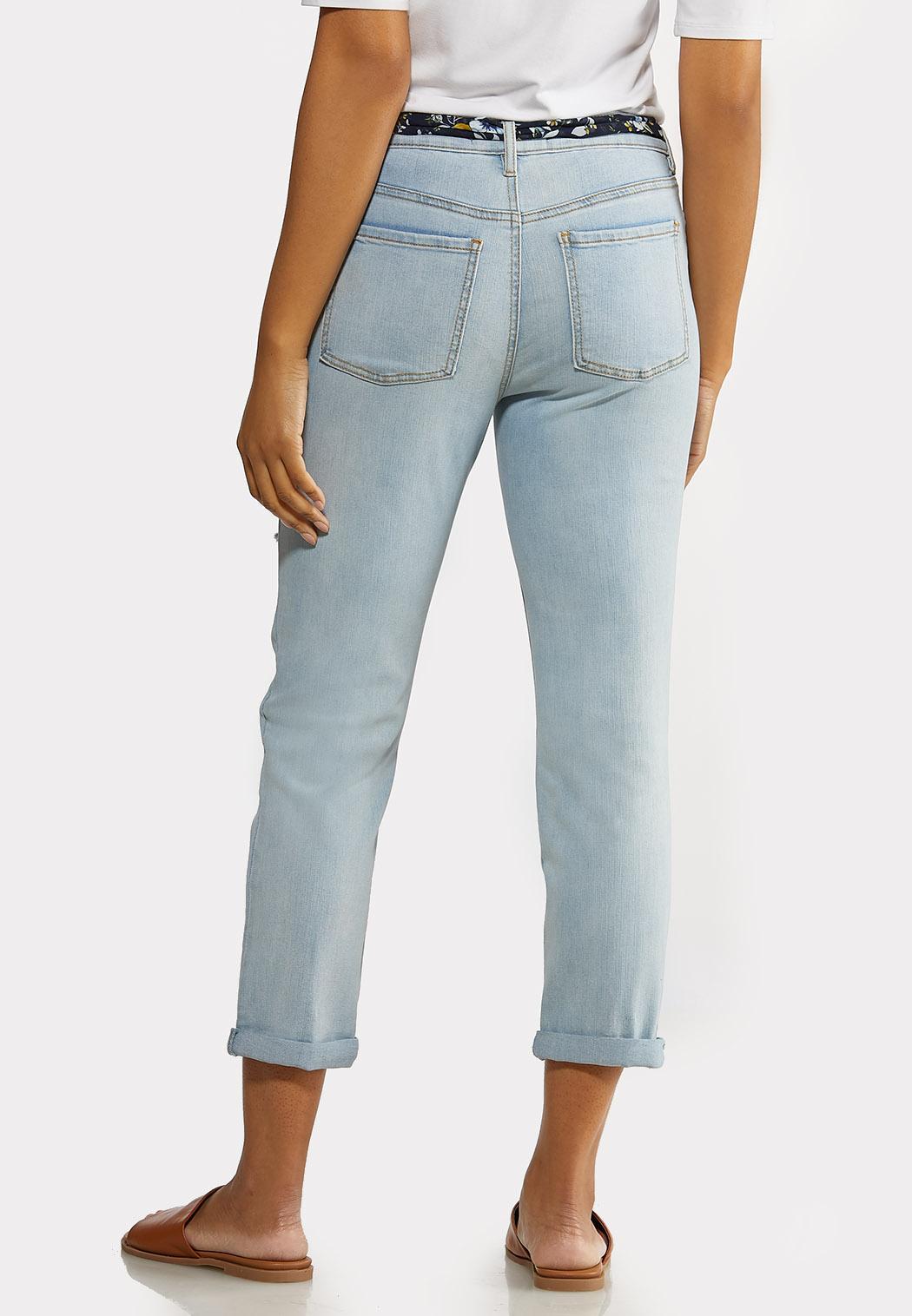 Scarf Belt Boyfriend Jeans (Item #44152503)