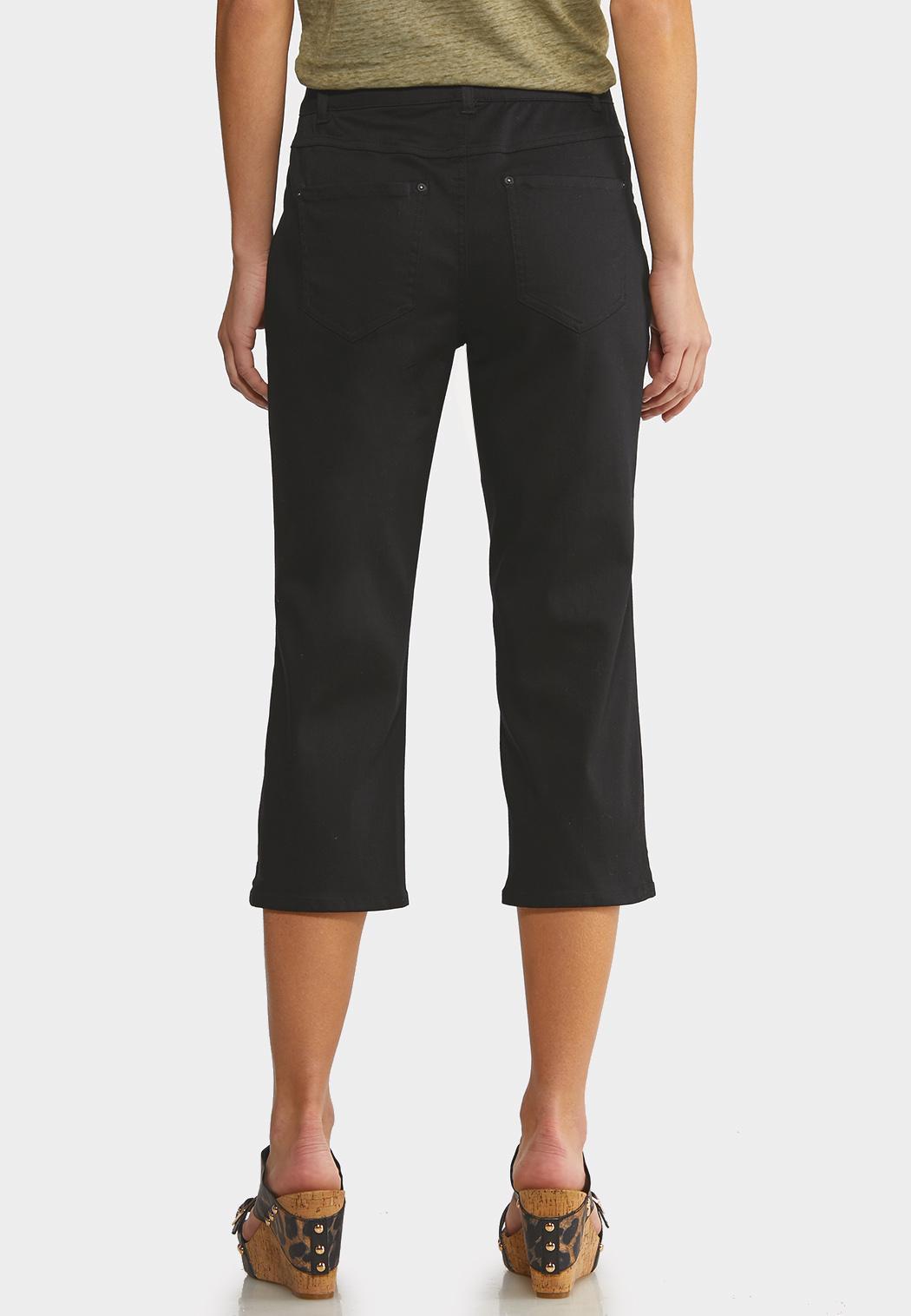 Cropped Black Jeans (Item #44152683)
