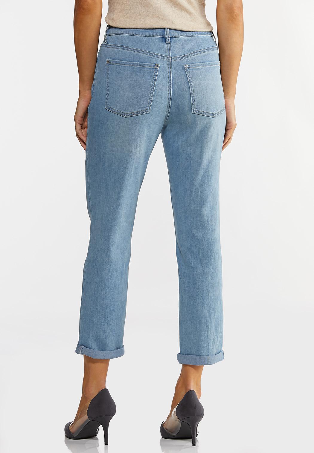 Cropped Boyfriend Jeans (Item #44152827)