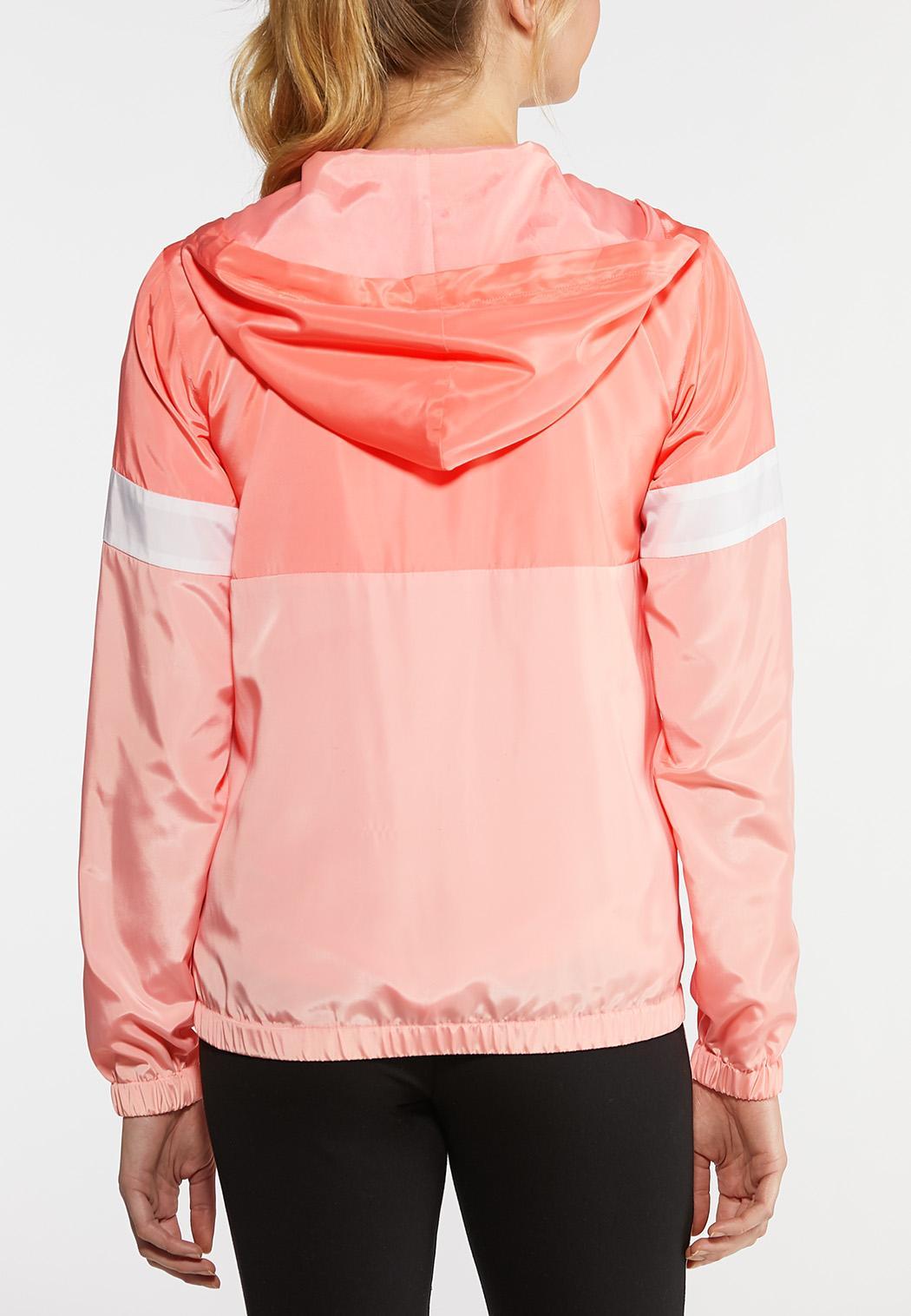 Plus Size Half Zip Colorblock Jacket (Item #44153043)