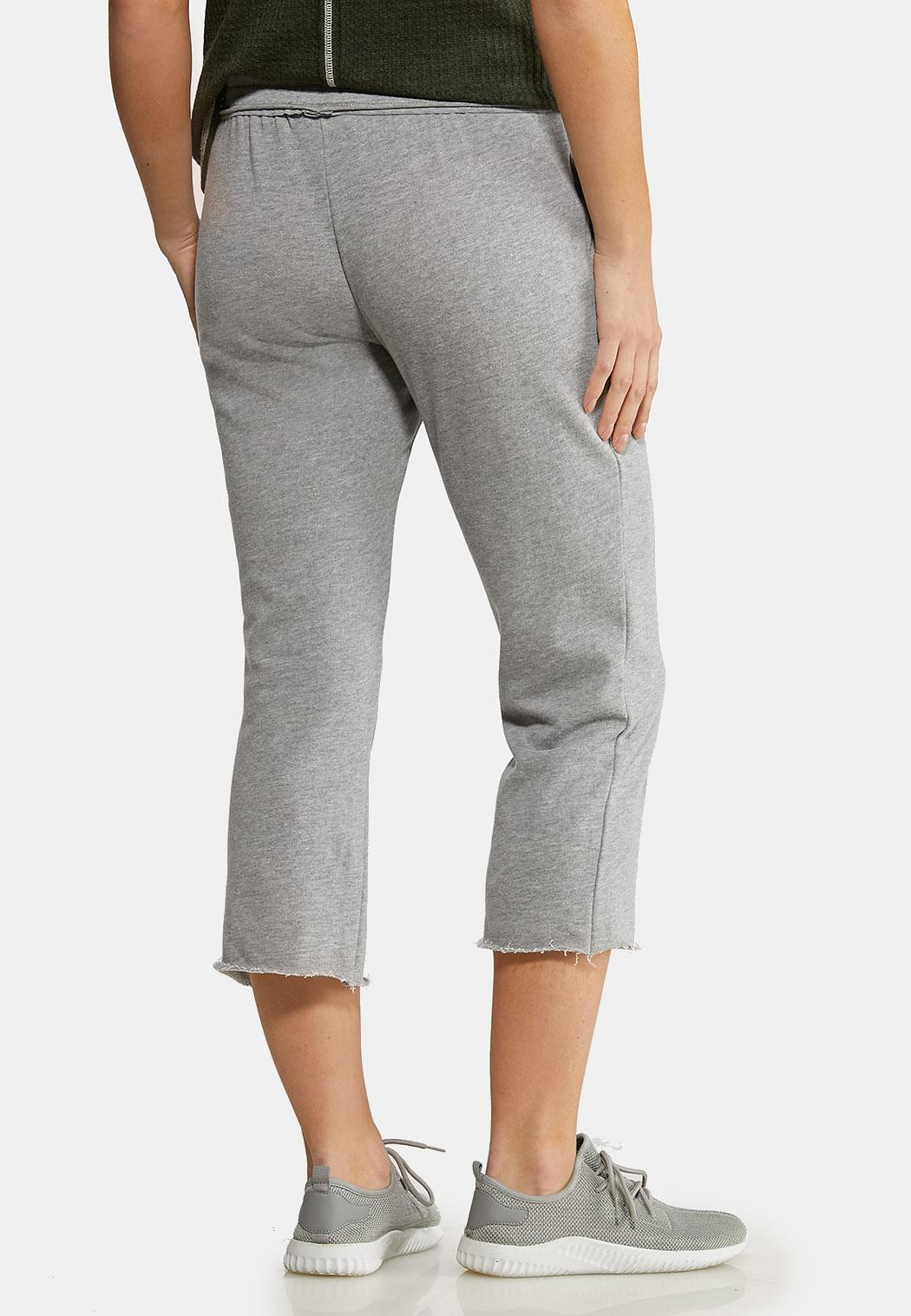 Gray Cropped Athleisure Pants (Item #44153103)