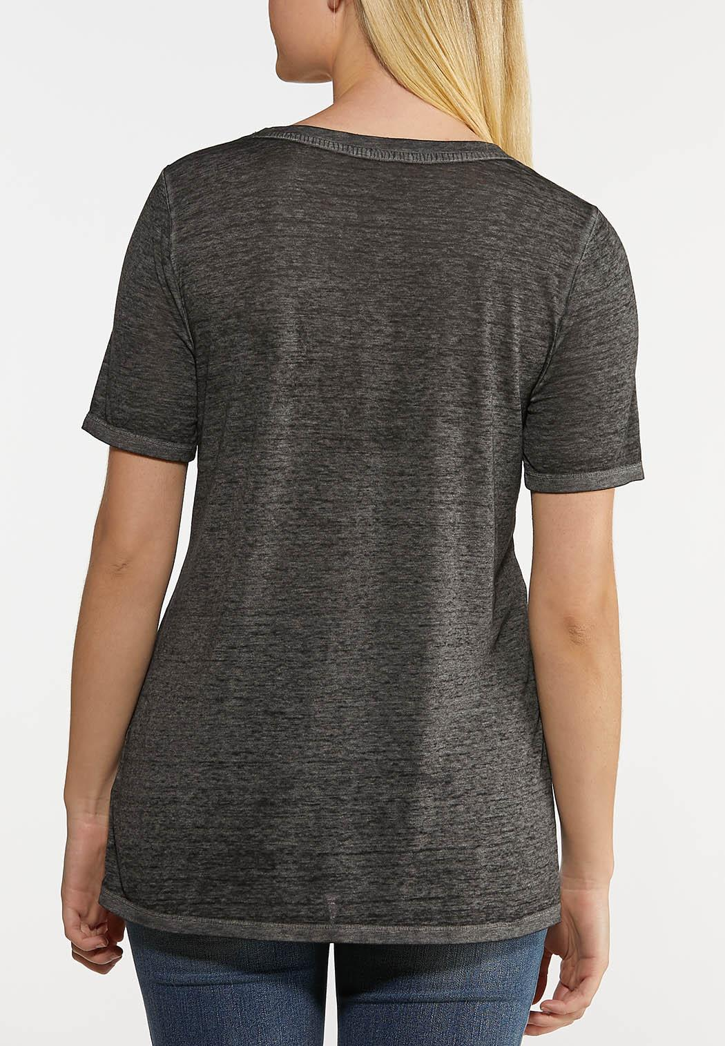 Plus Size Solid Burnwash Tee (Item #44153164)
