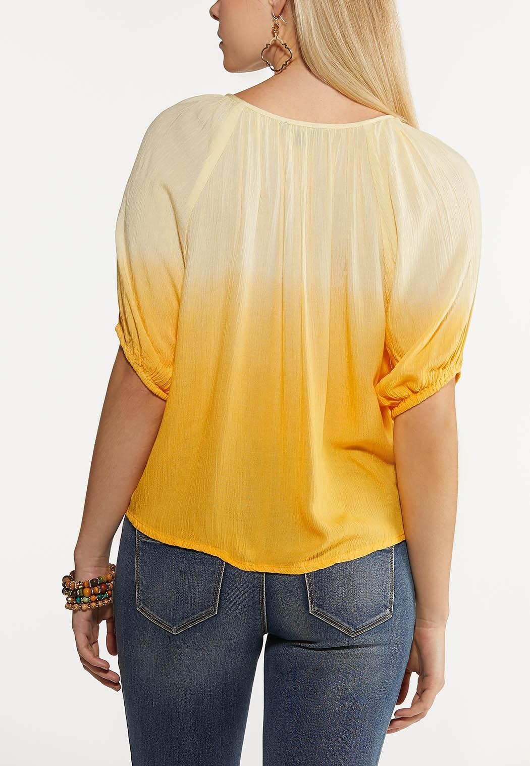 Yellow Tie Dye Top (Item #44154505)