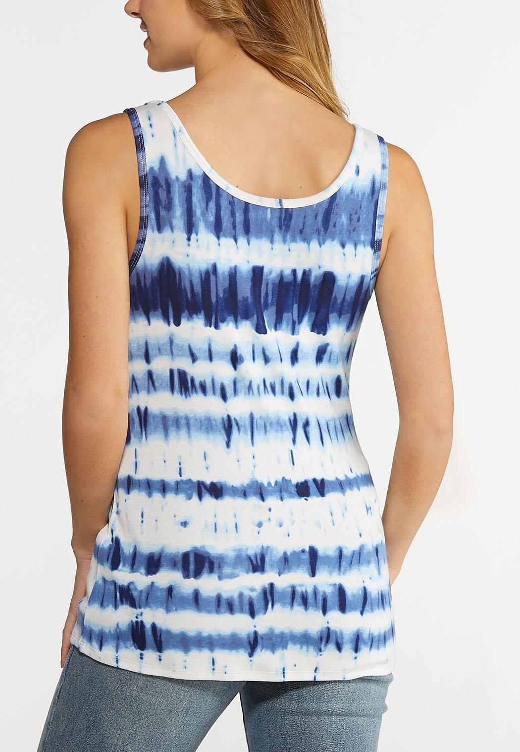 Plus Size Ocean Tie Dye Tank (Item #44154764)
