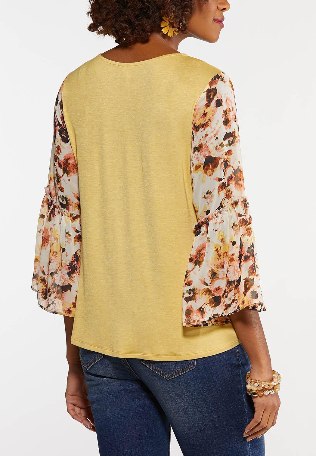 Floral Flutter Sleeve Top (Item #44154917)