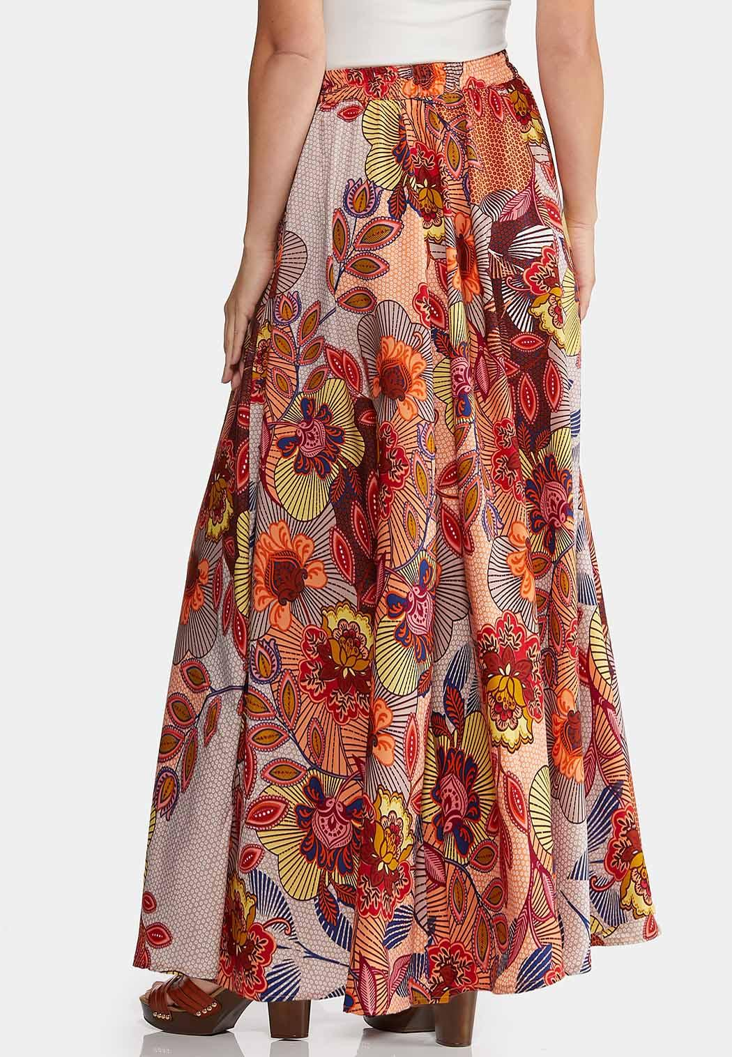 Floral Wide Sweep Maxi Skirt (Item #44155797)