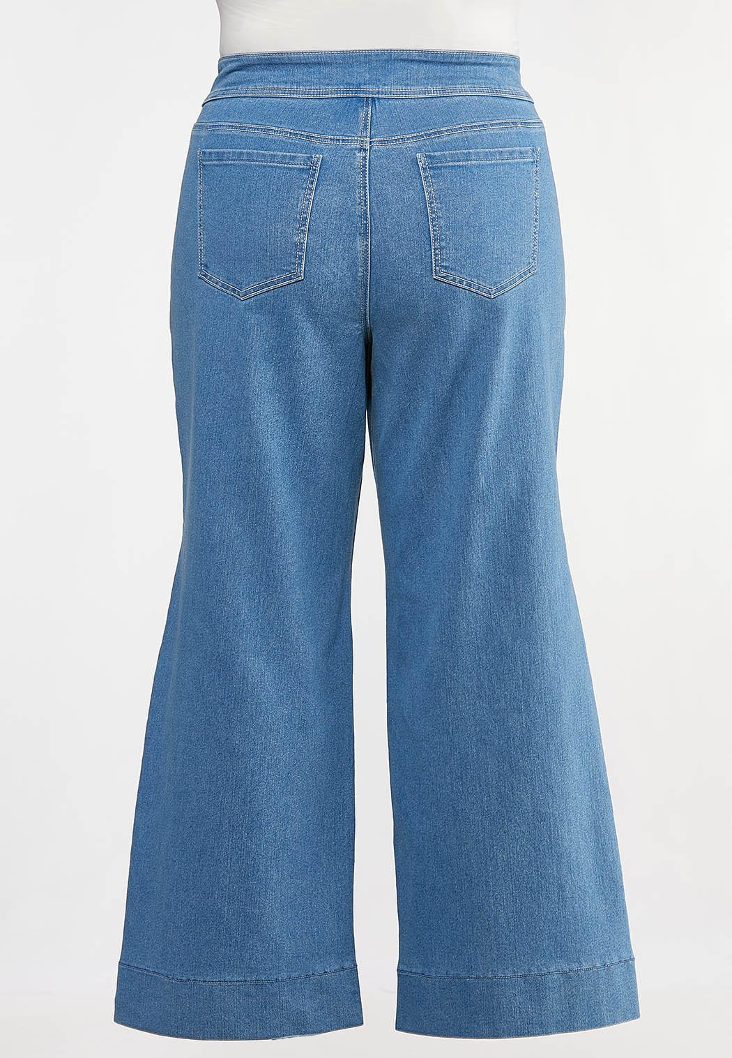 Plus Petite Stitched Trouser Jeans (Item #44156182)