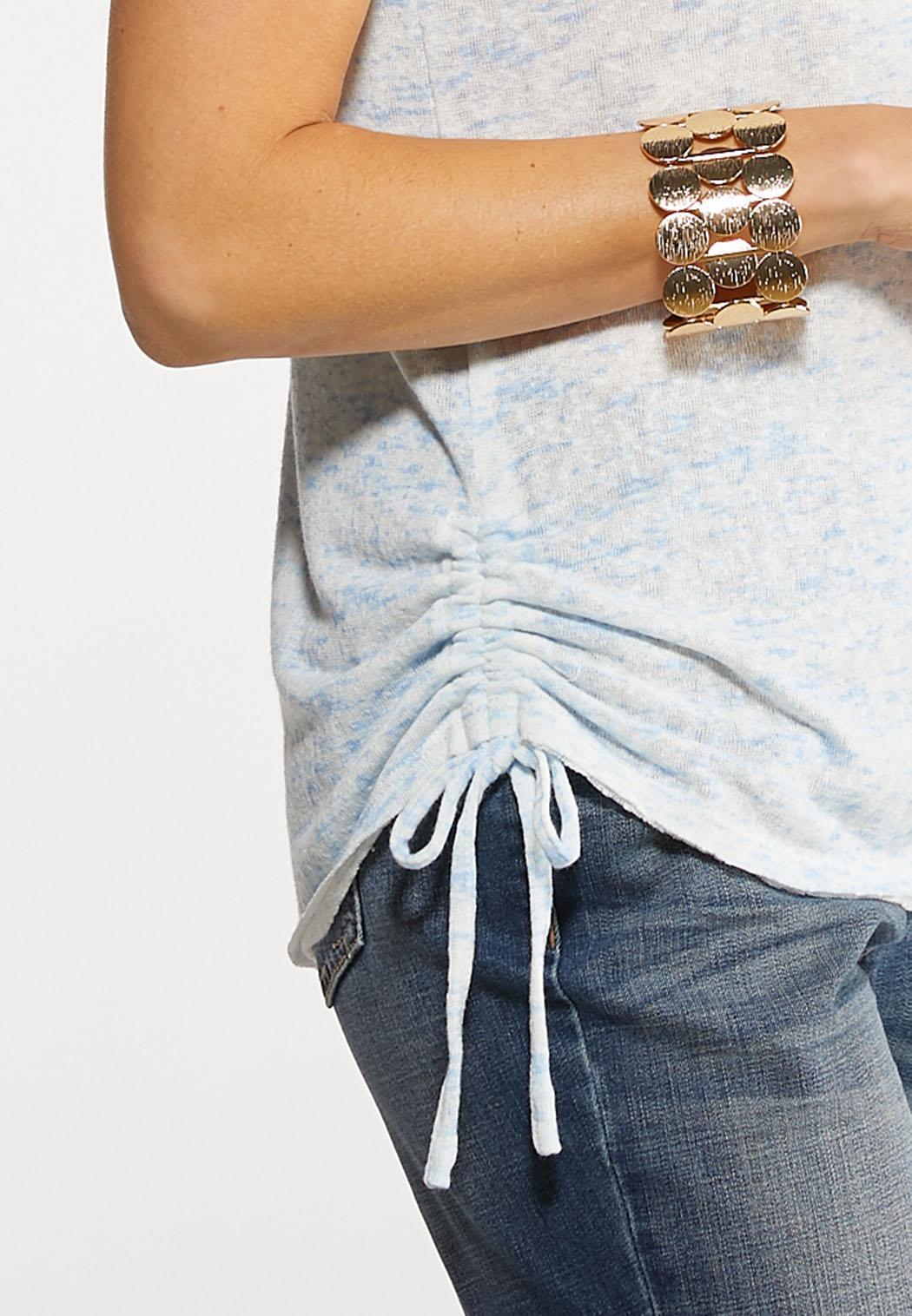Ruched Tie Waist Top (Item #44156312)
