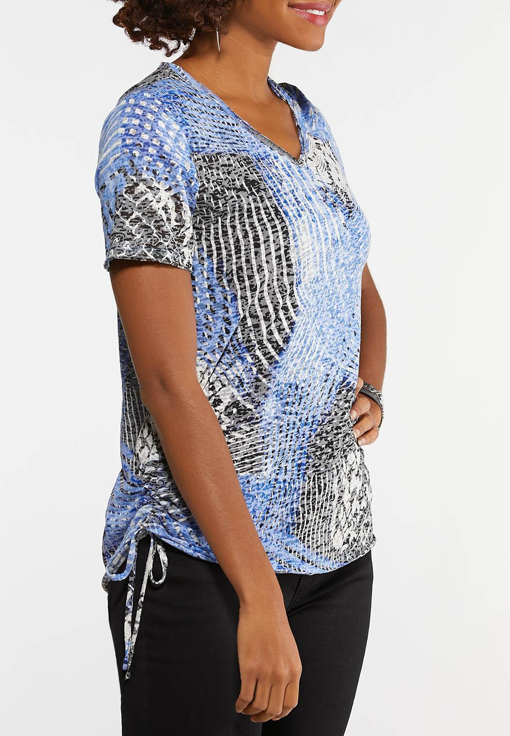 Ruched Burnout Top (Item #44156426)