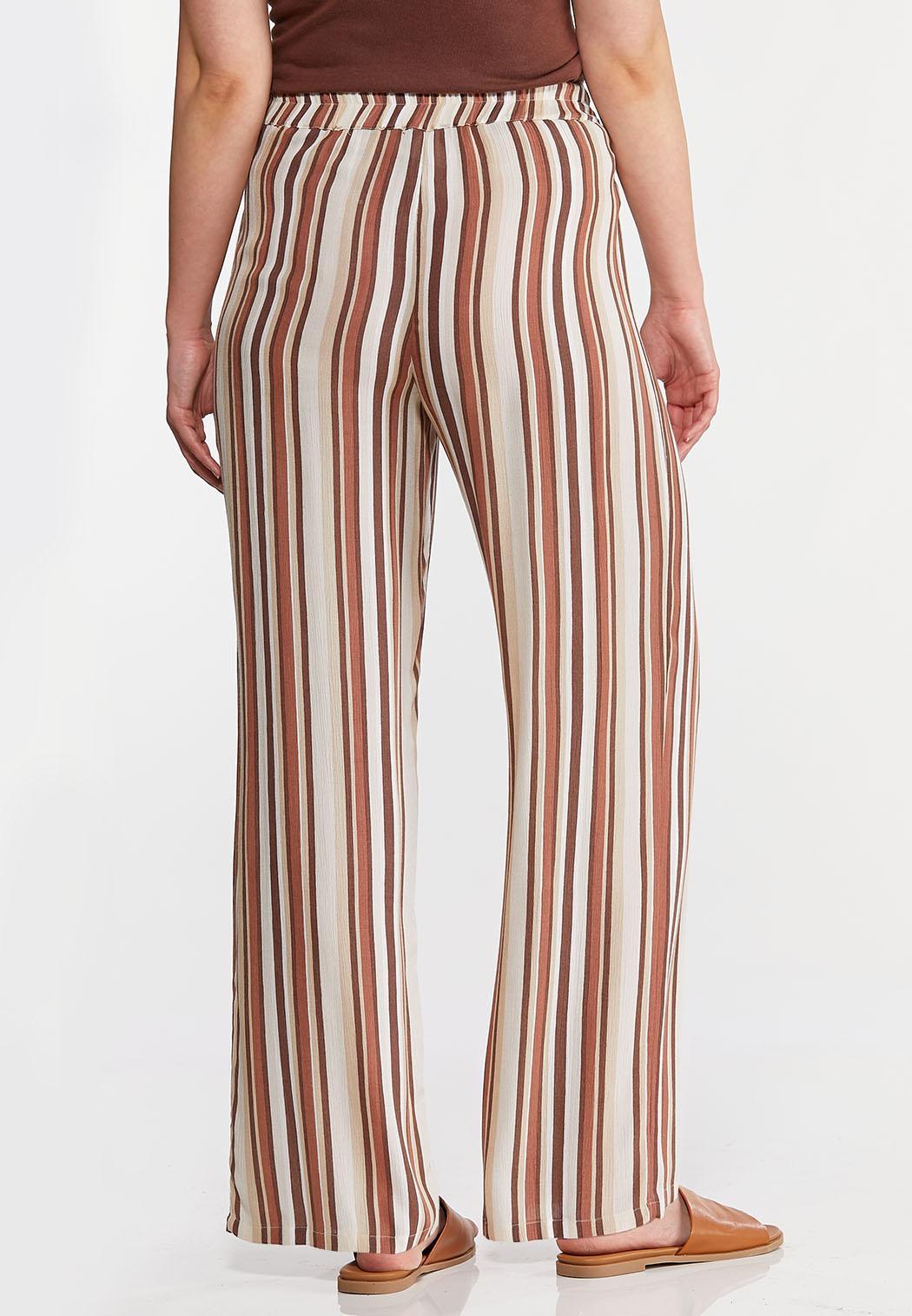 Gauzy Tie Waist Stripe Pants (Item #44156916)