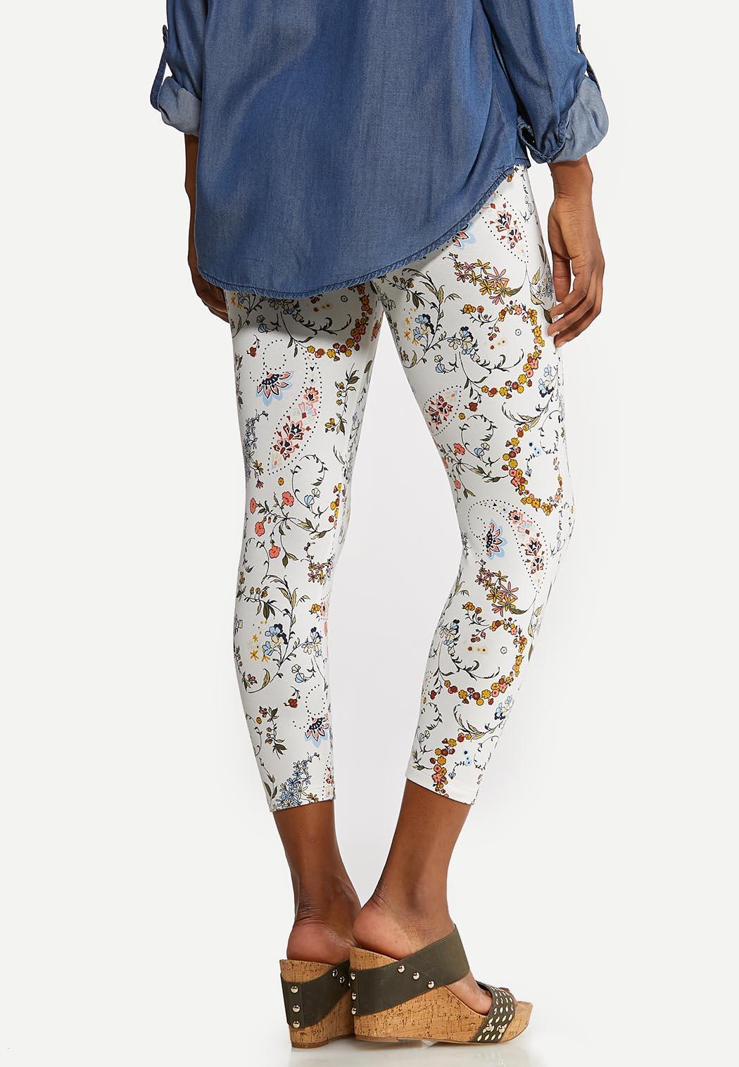Floral Paisley Capri Leggings (Item #44159582)