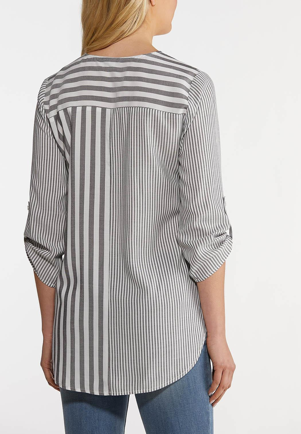 Knotted Gray Stripe Top (Item #44160091)