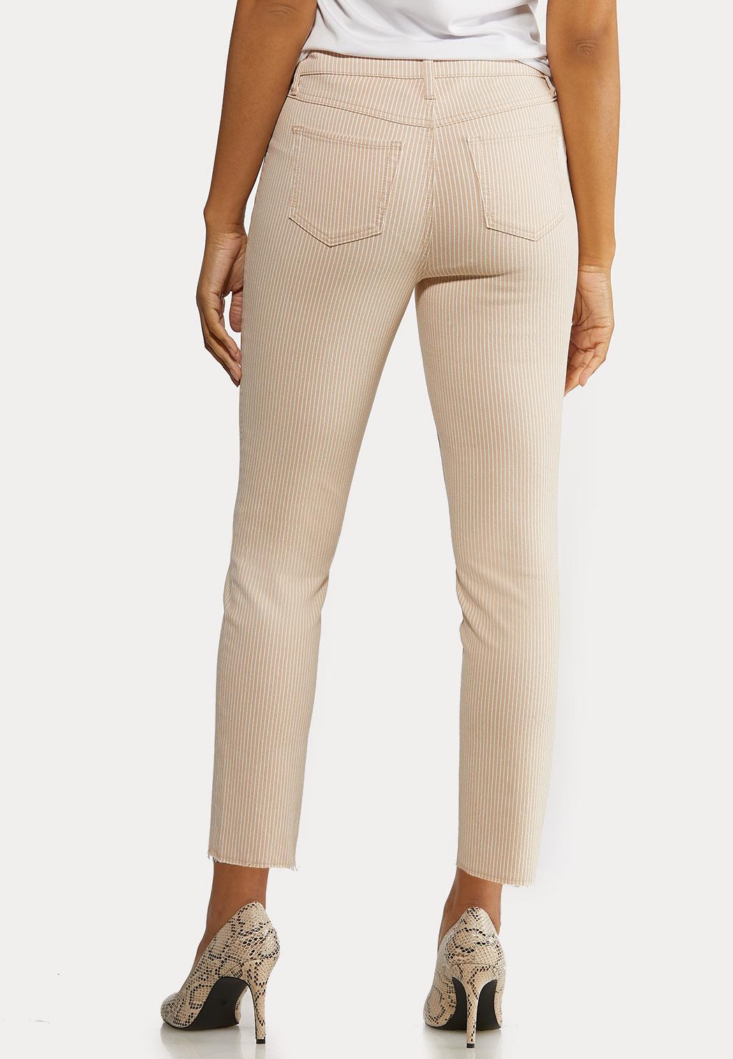 Neutral Stripe Ankle Jeans (Item #44162290)