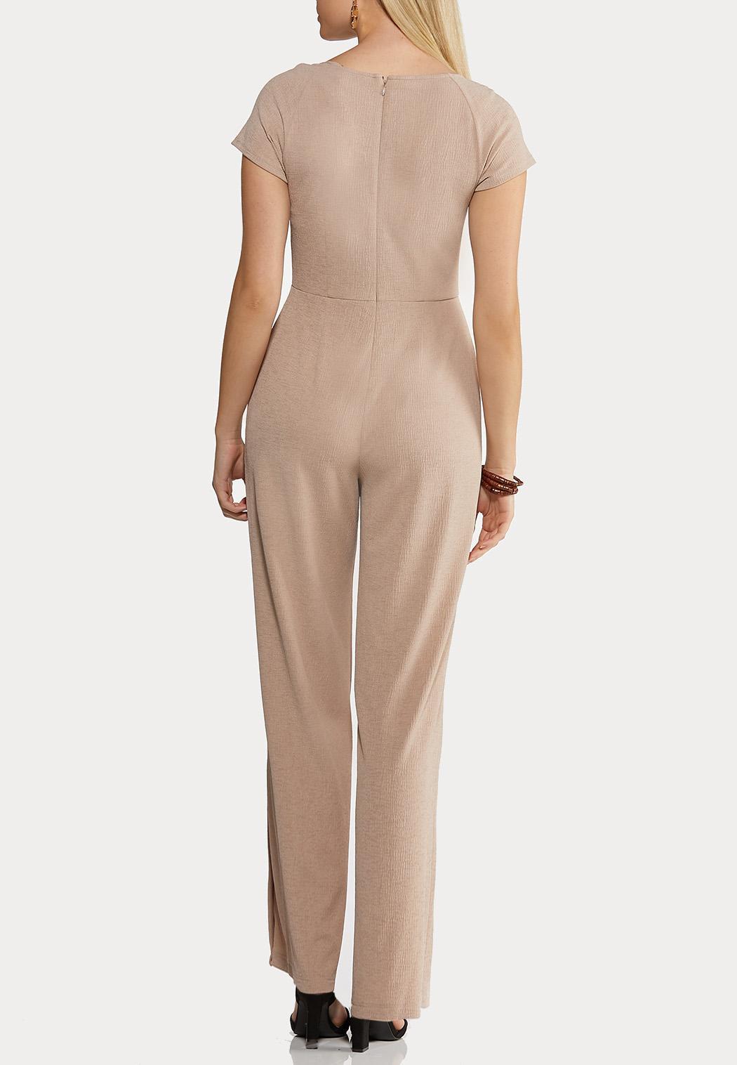 Plus Size Button Down Jumpsuit (Item #44163796)