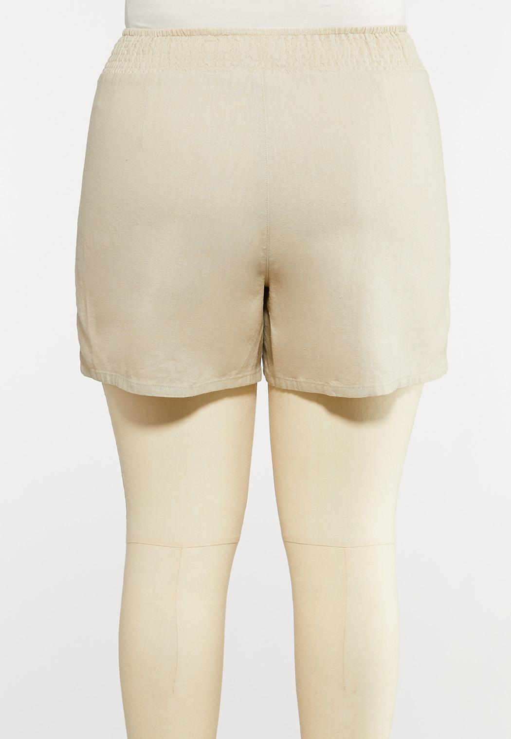 Plus Size Linen Shorts (Item #44164327)