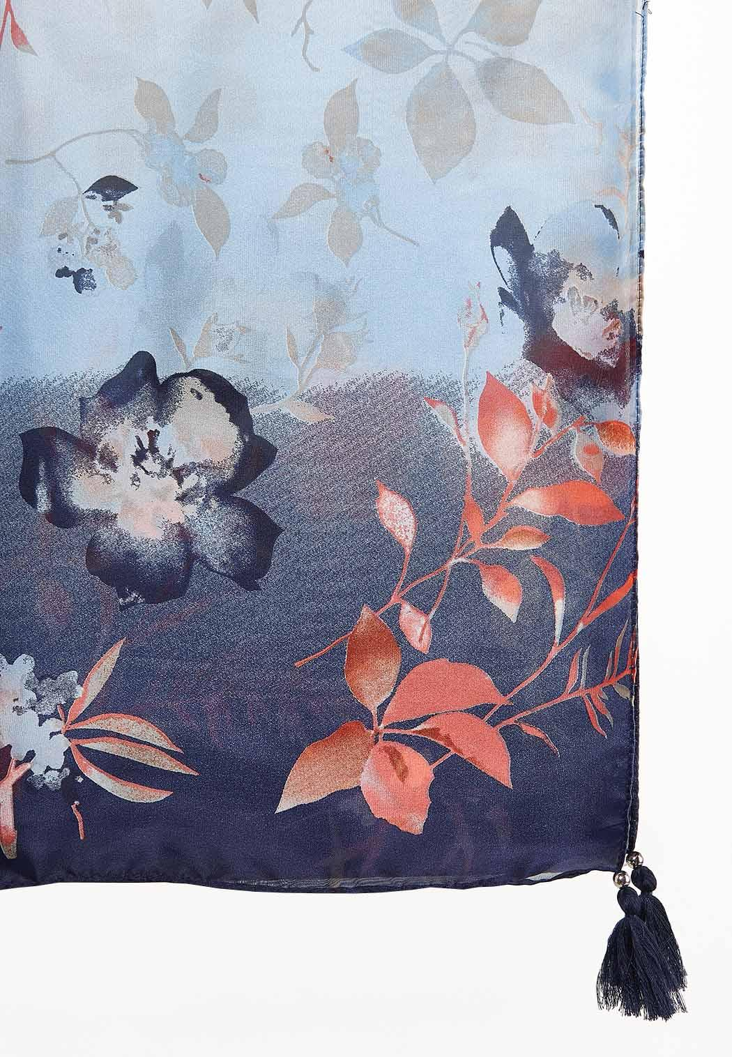 Watercolor Floral Oblong Scarf (Item #44165304)