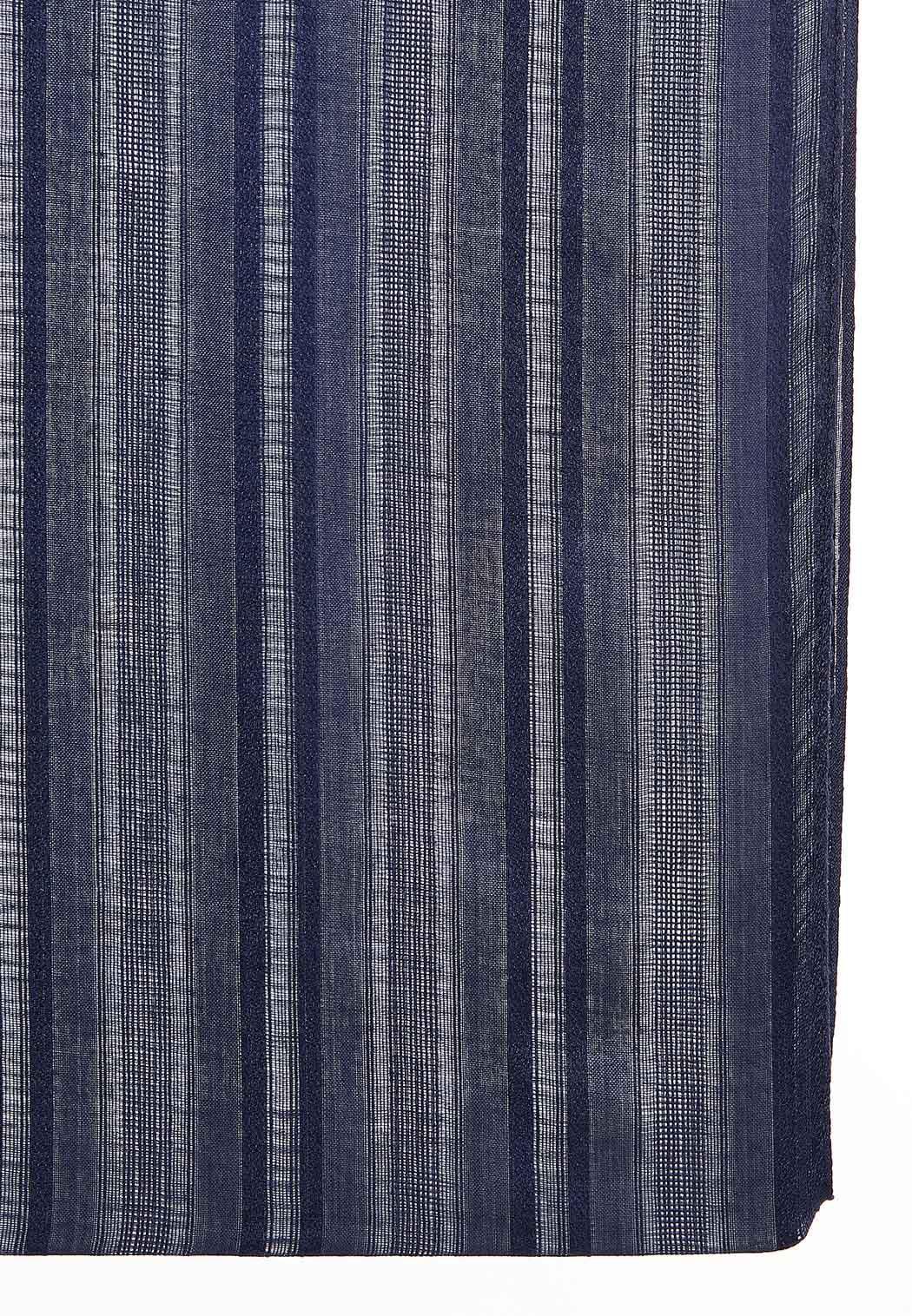 Navy Crochet Striped Infinity Scarf (Item #44165340)