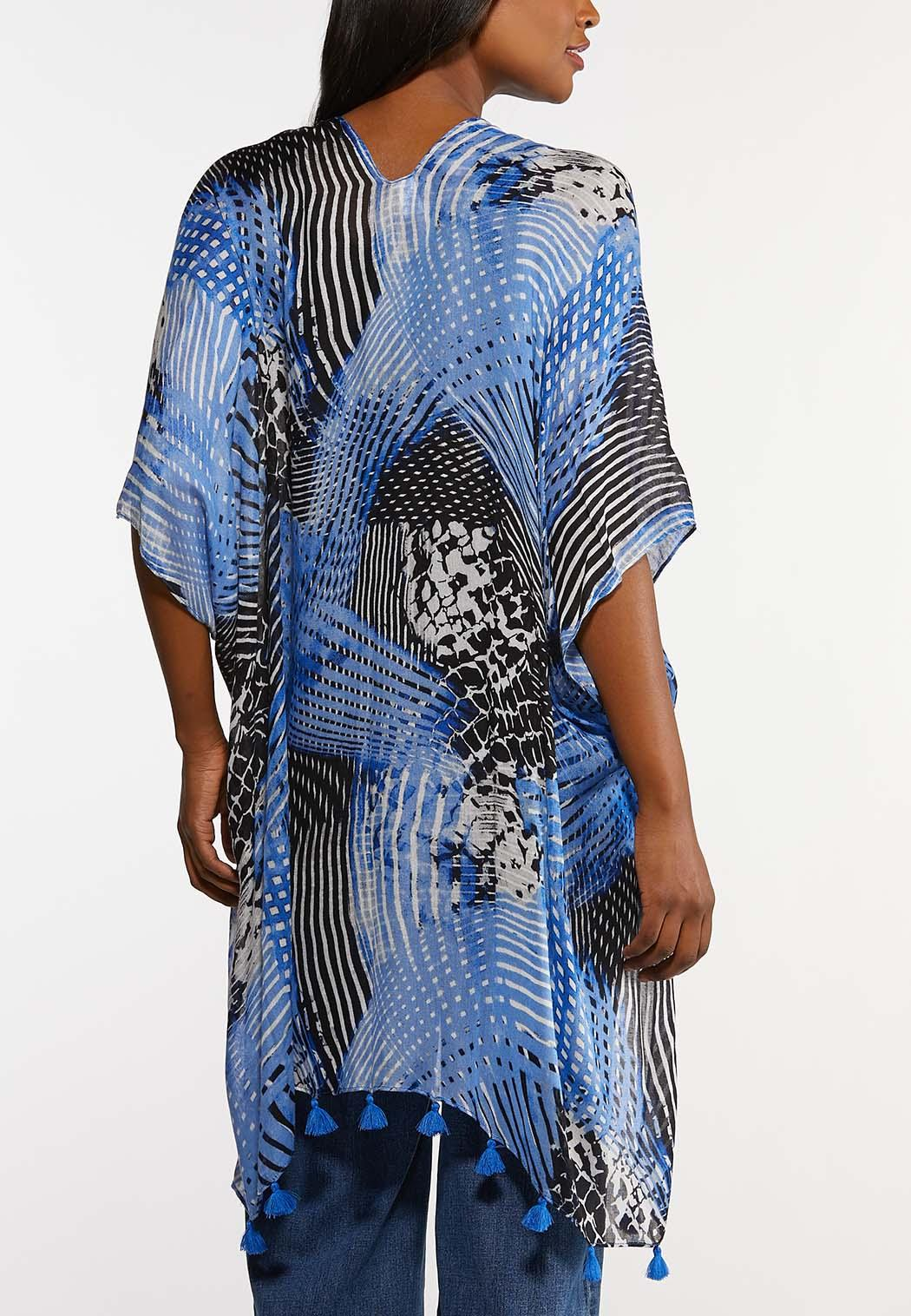 Animal Tassel Trim Kimono (Item #44165586)