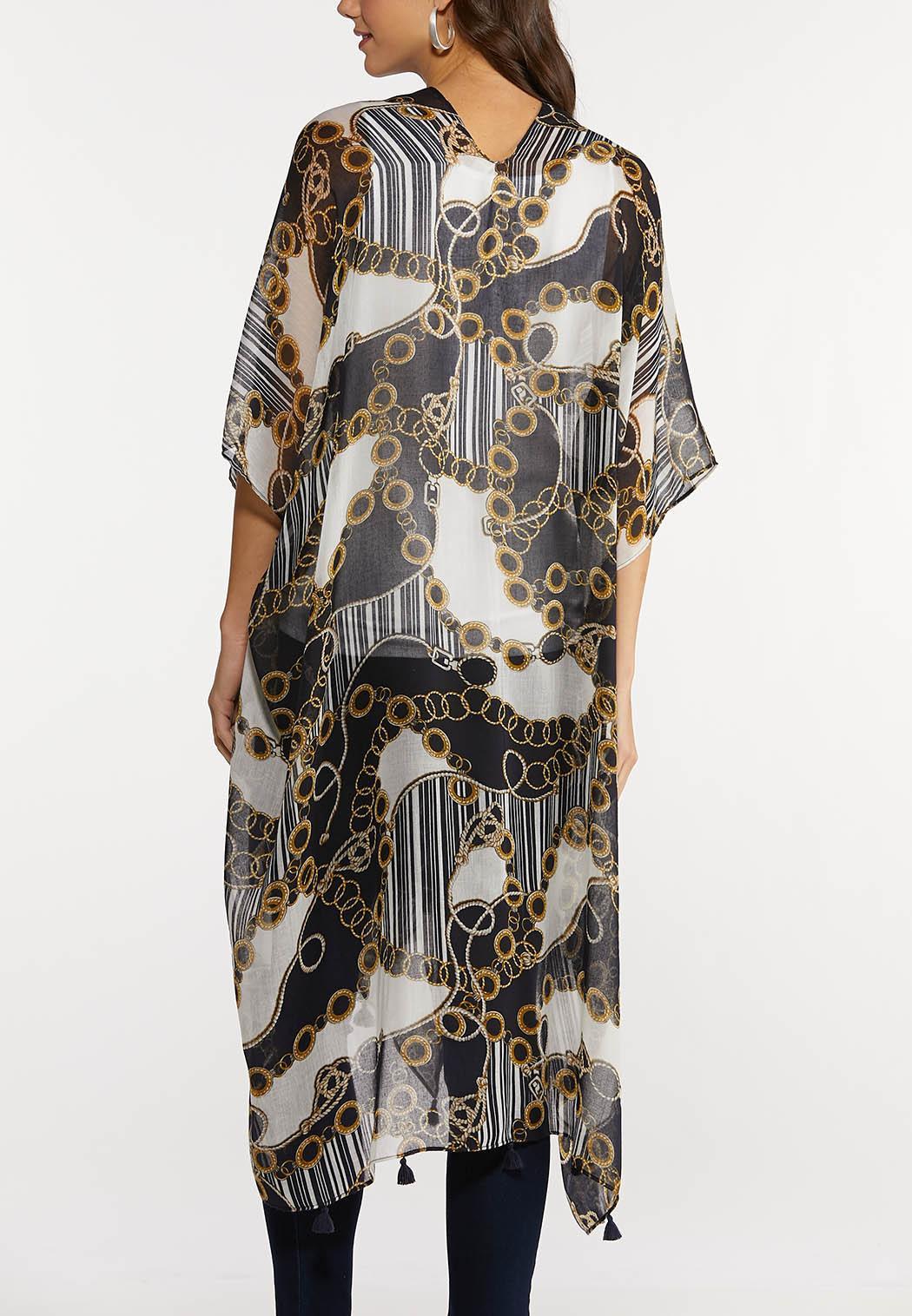 Status Print Tasseled Kimono (Item #44165624)