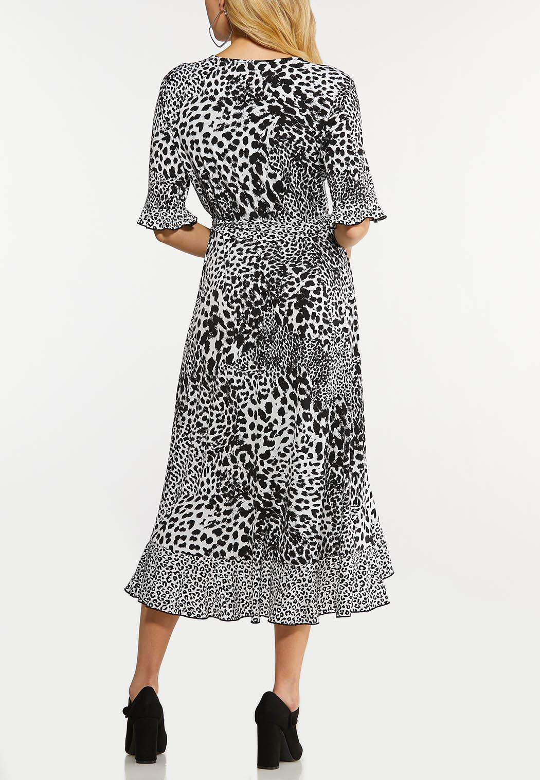 Plus Size Animal Wrap Dress (Item #44166621)