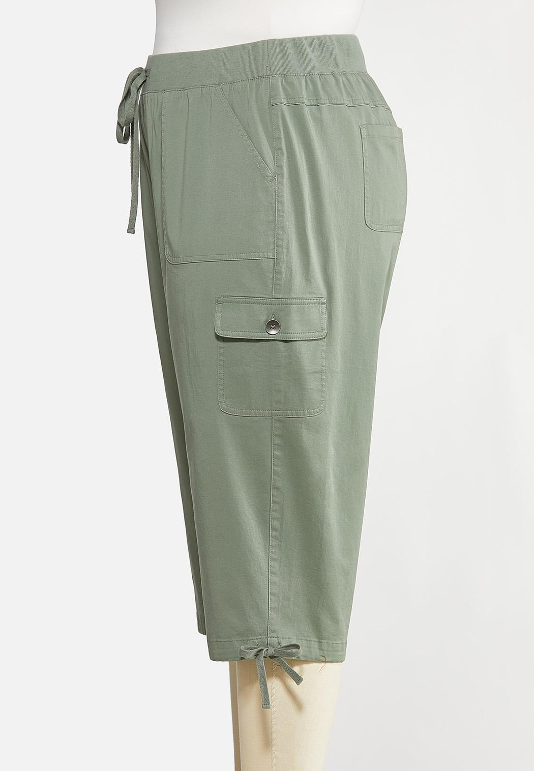 Plus Size Cropped Utility Pants (Item #44167383)