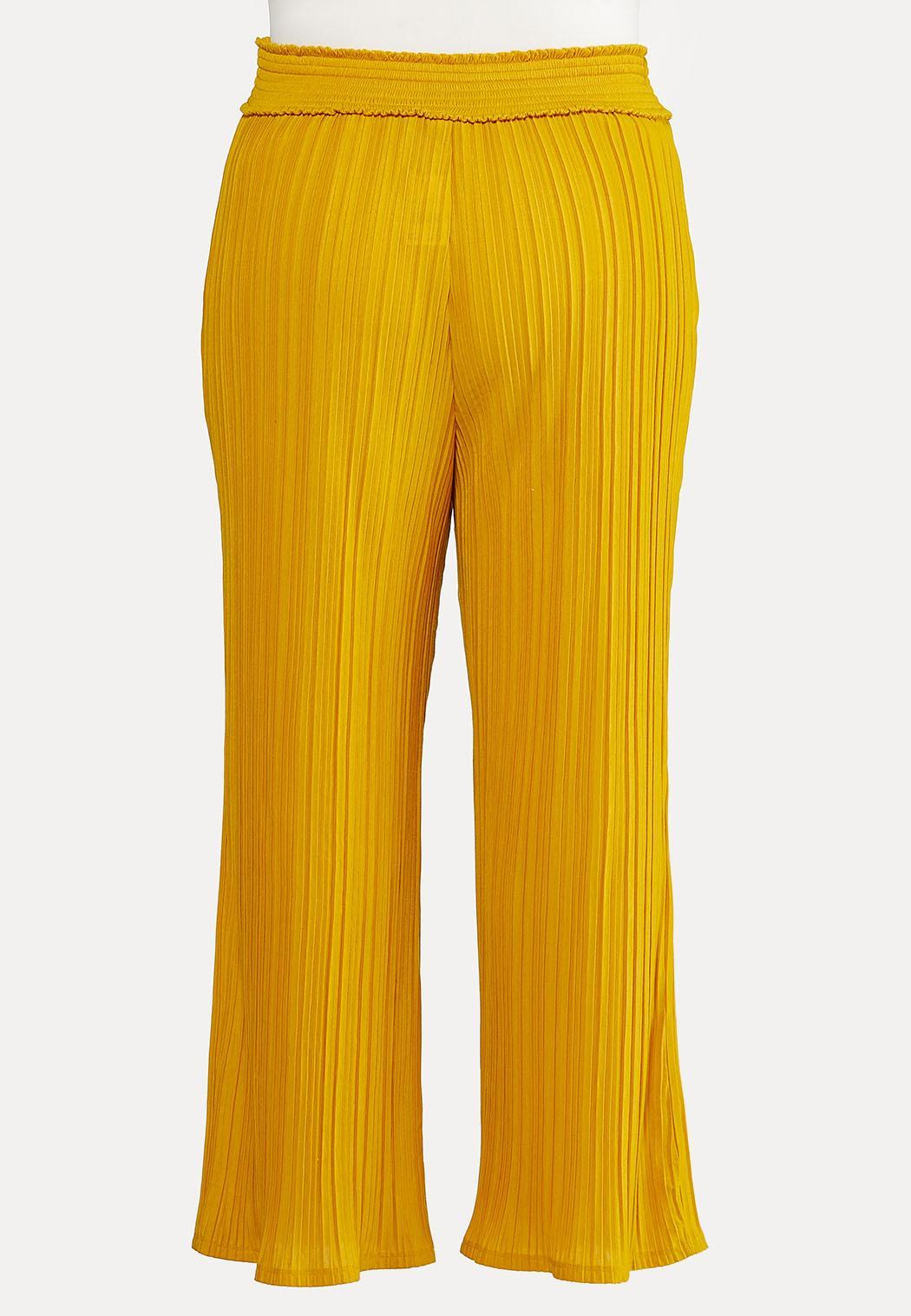 Plus Size Wide Leg Pleated Pants (Item #44167981)