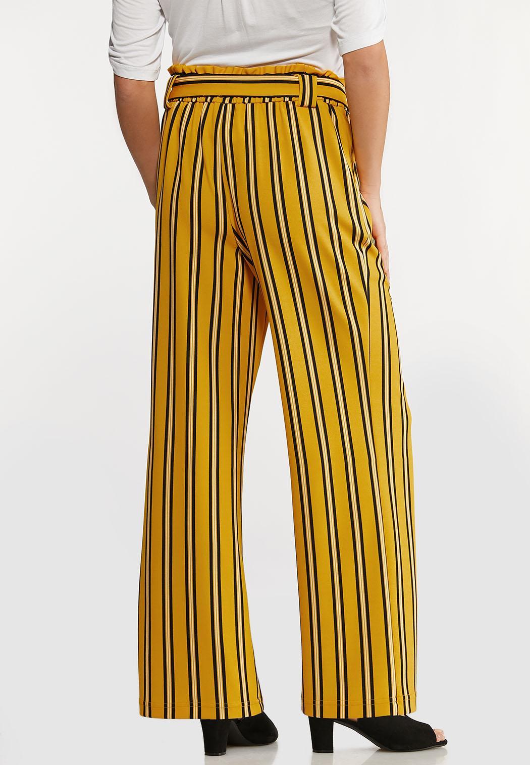 Petite Striped Paperbag Pants (Item #44168039)