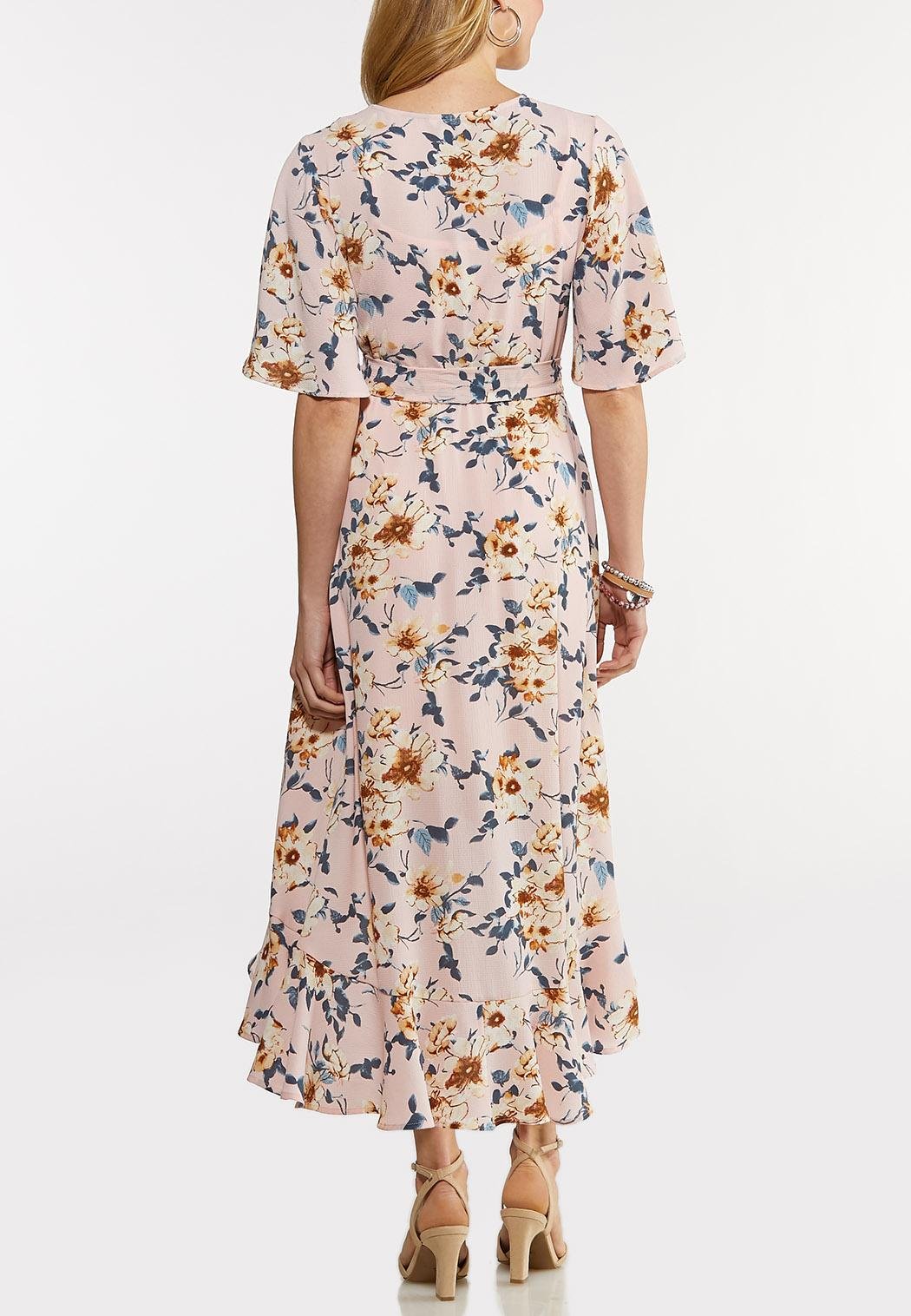 Plus Size Floral Ruffle Dress (Item #44168473)