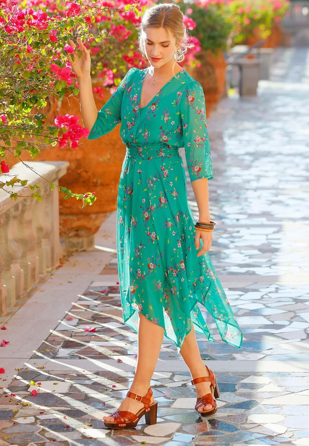 Floral Hanky Hem Dress (Item #44168502)