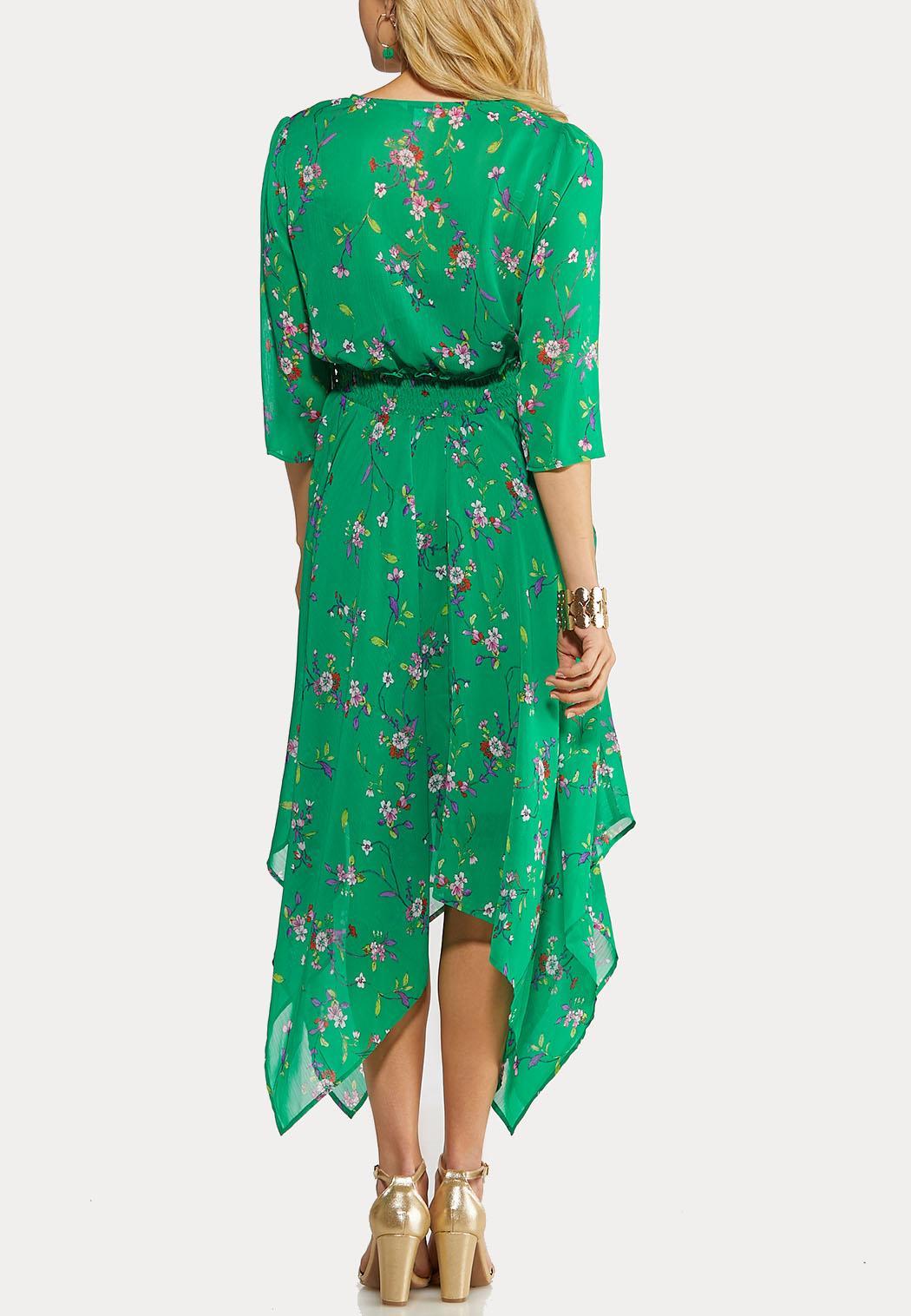 Plus Size Floral Hanky Hem Dress (Item #44168512)