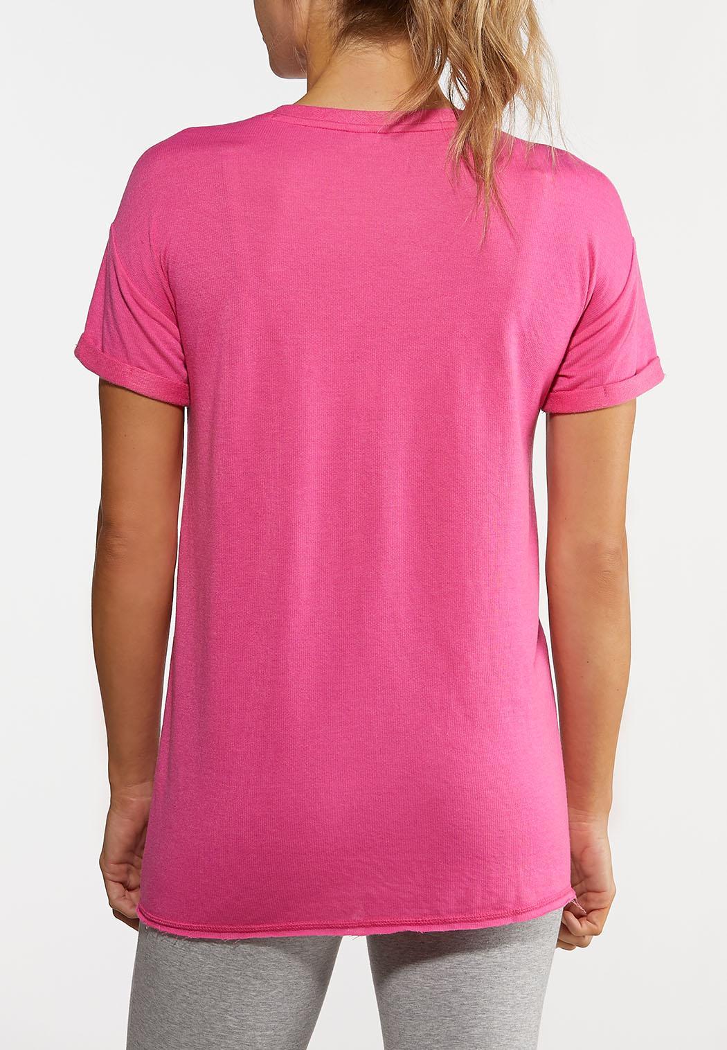 Plus Size Tie Front Active Top (Item #44168530)