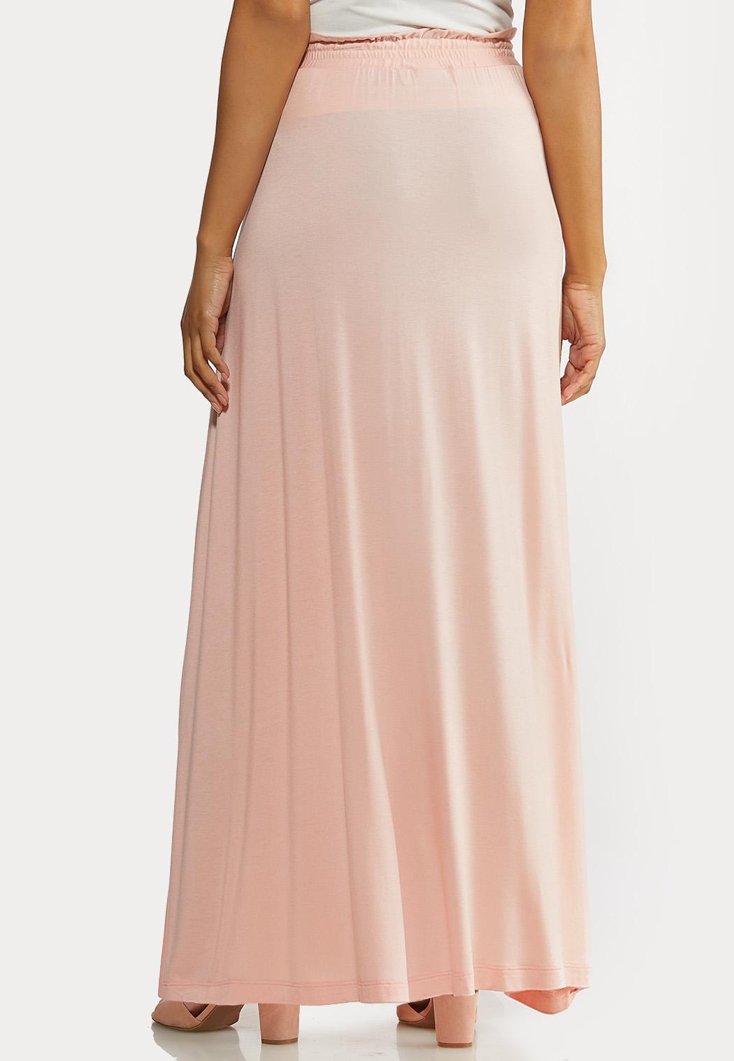 Plus Size Pale Blush Maxi Skirt (Item #44168570)