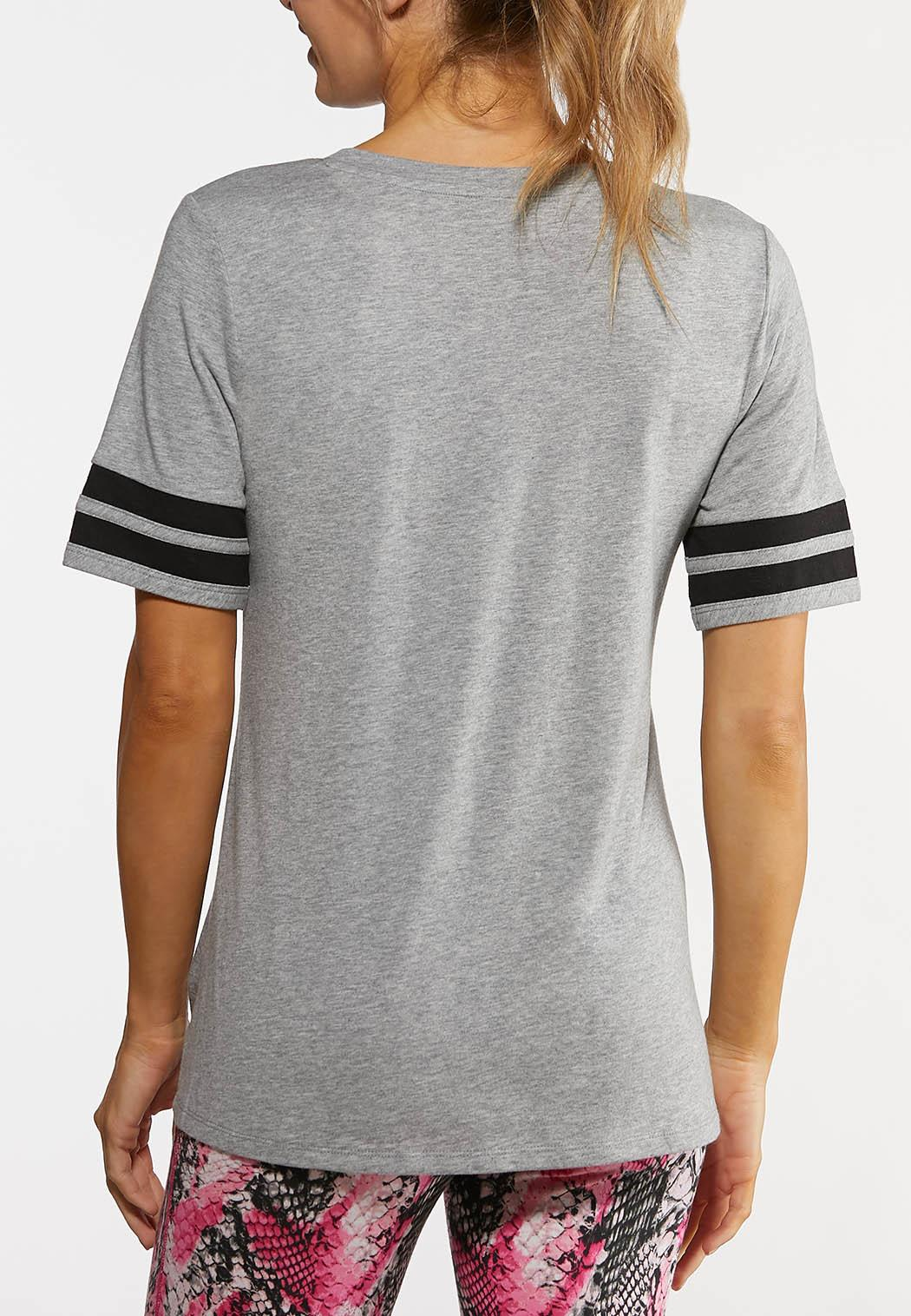 Sporty Stripe Knotted Tee (Item #44168862)