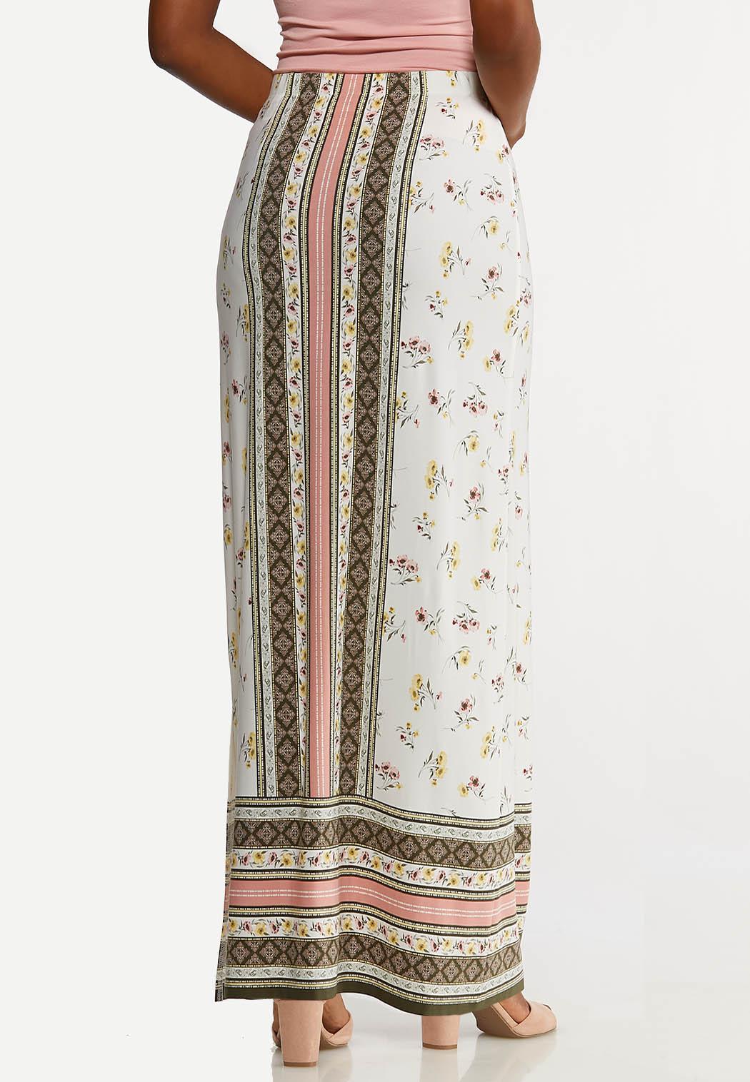 Plus Size Bohemian Maxi Skirt (Item #44169012)