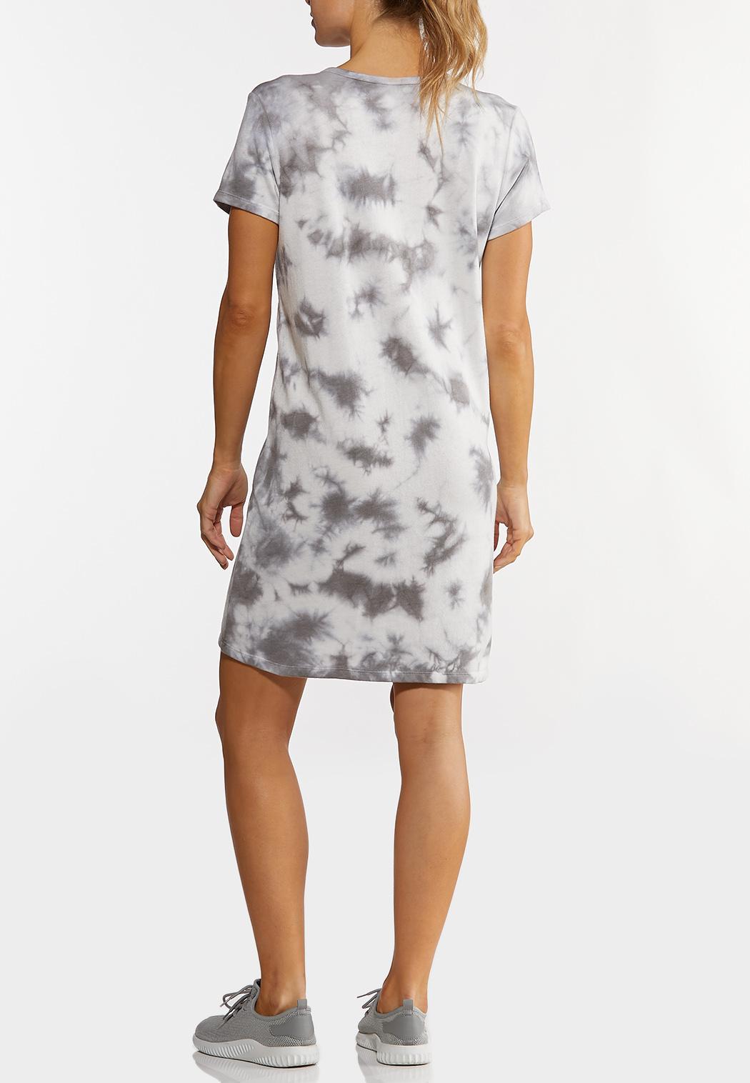 Plus Size Tie Dye French Terry Dress (Item #44169102)