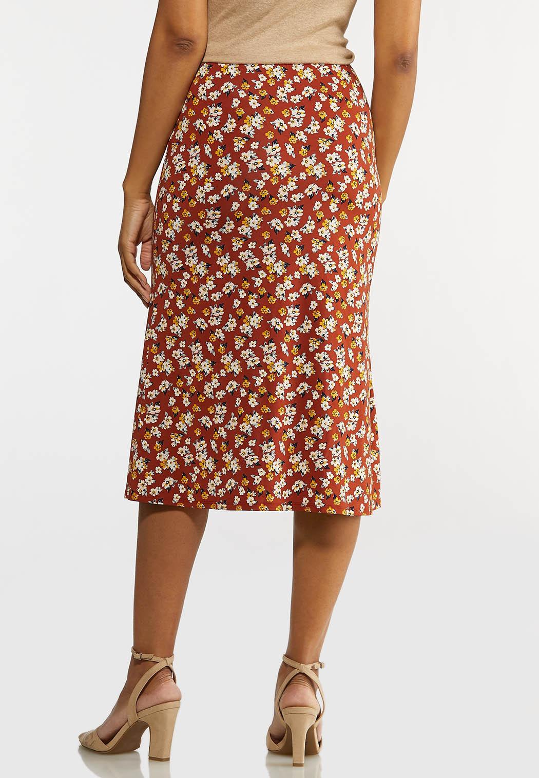 Rust Floral Skirt (Item #44169189)