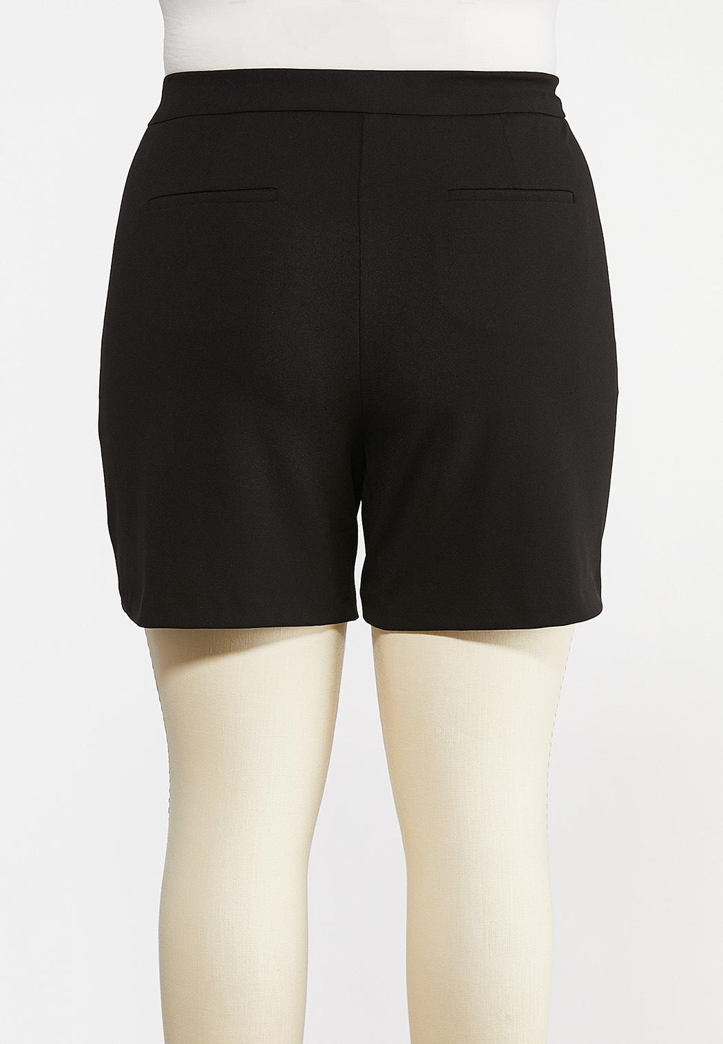 Plus Size Black Sailor Shorts (Item #44169612)