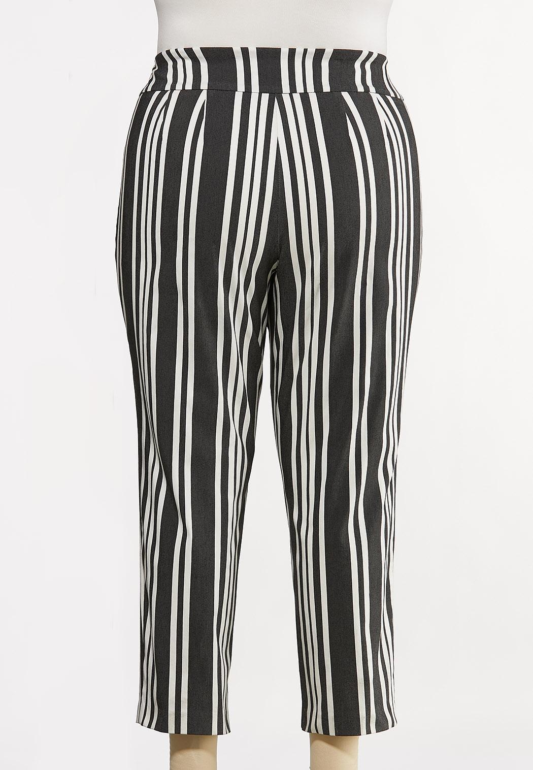Plus Size Striped Bengaline Pants (Item #44170252)
